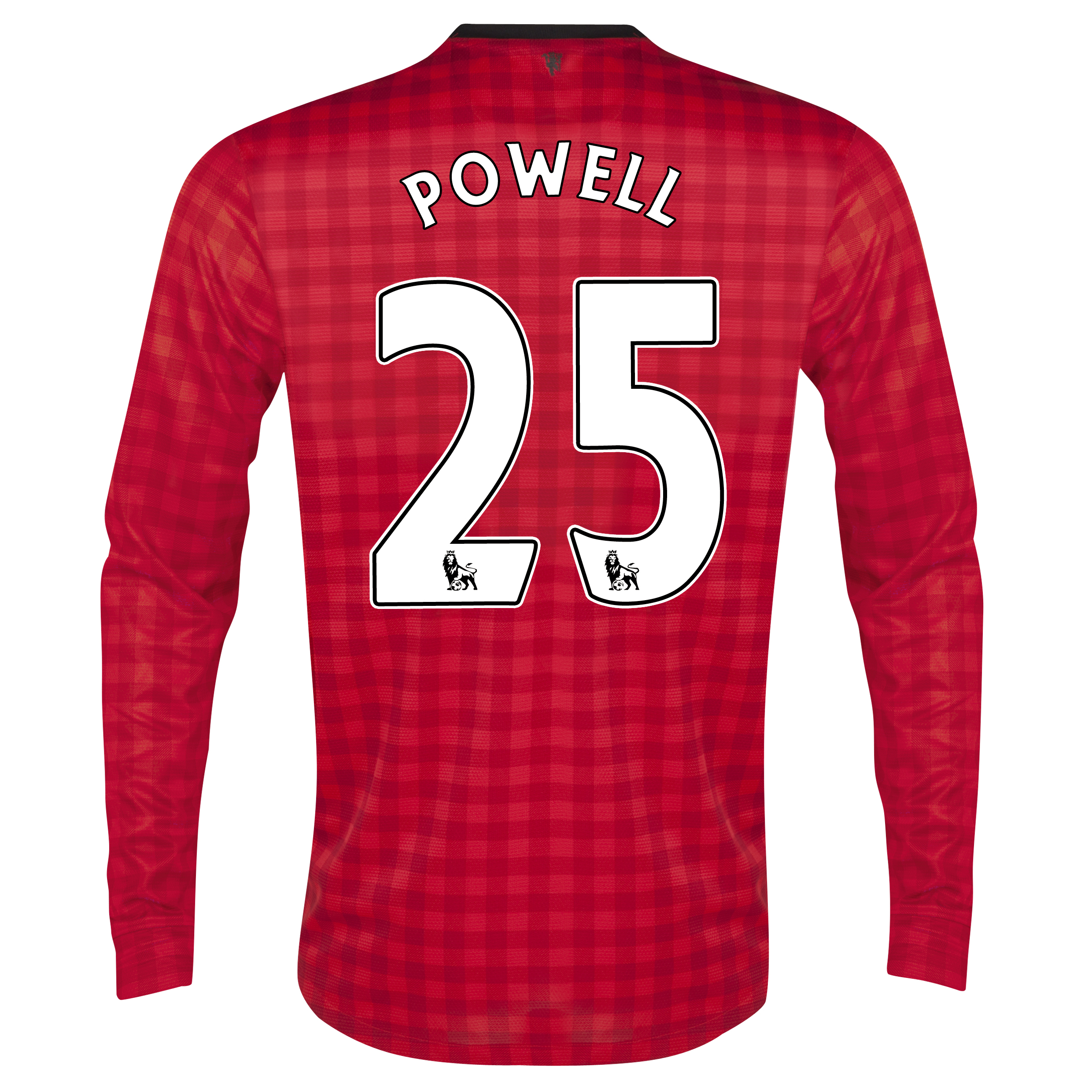 Manchester United Home Shirt 2012/13 - Long Sleeved with Powell 25 printing