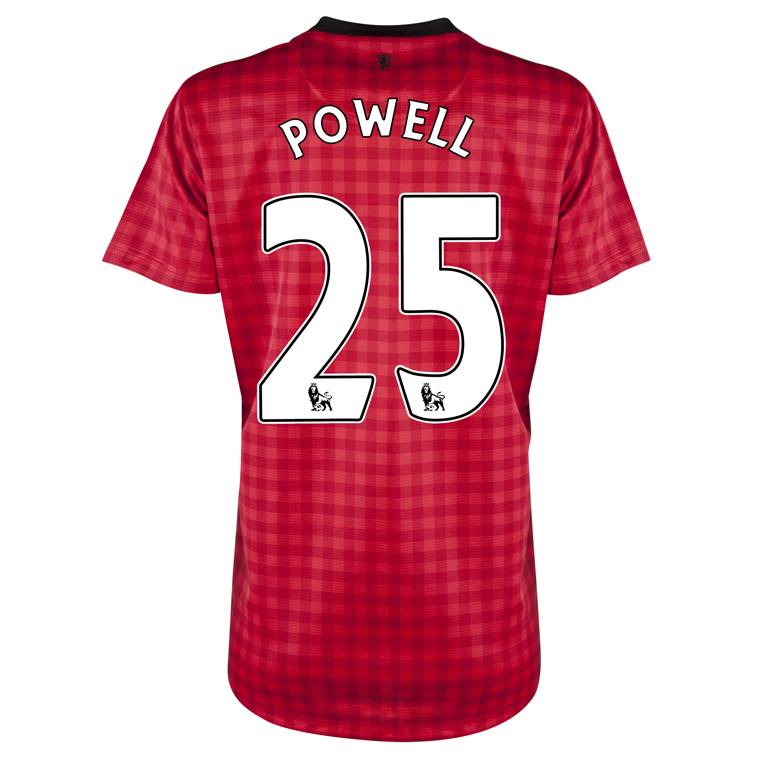 Manchester United Home Shirt 2012/13 - Womens with Powell 25 printing