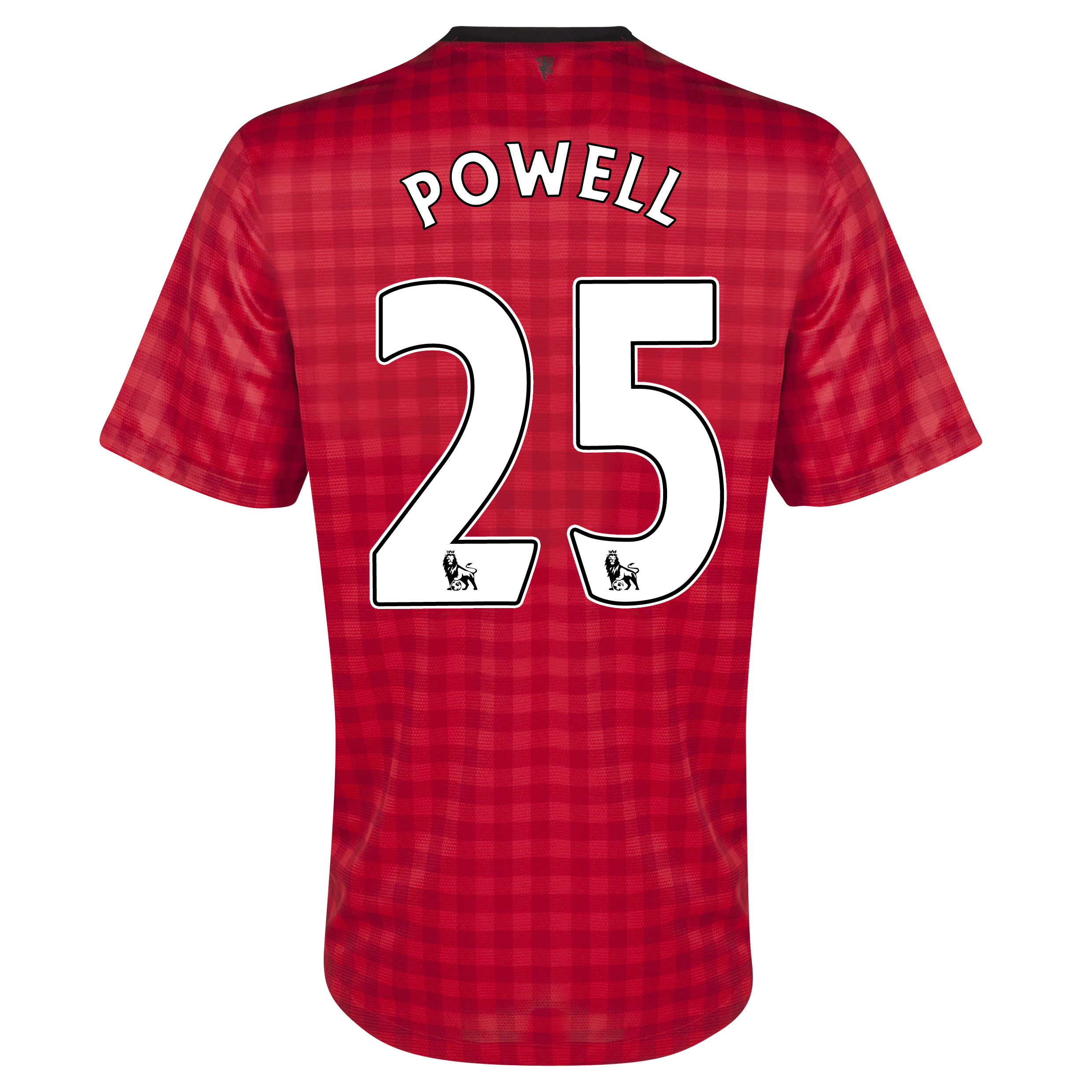 Manchester United Home Shirt 2012/13  - Youths with Powell 25 printing