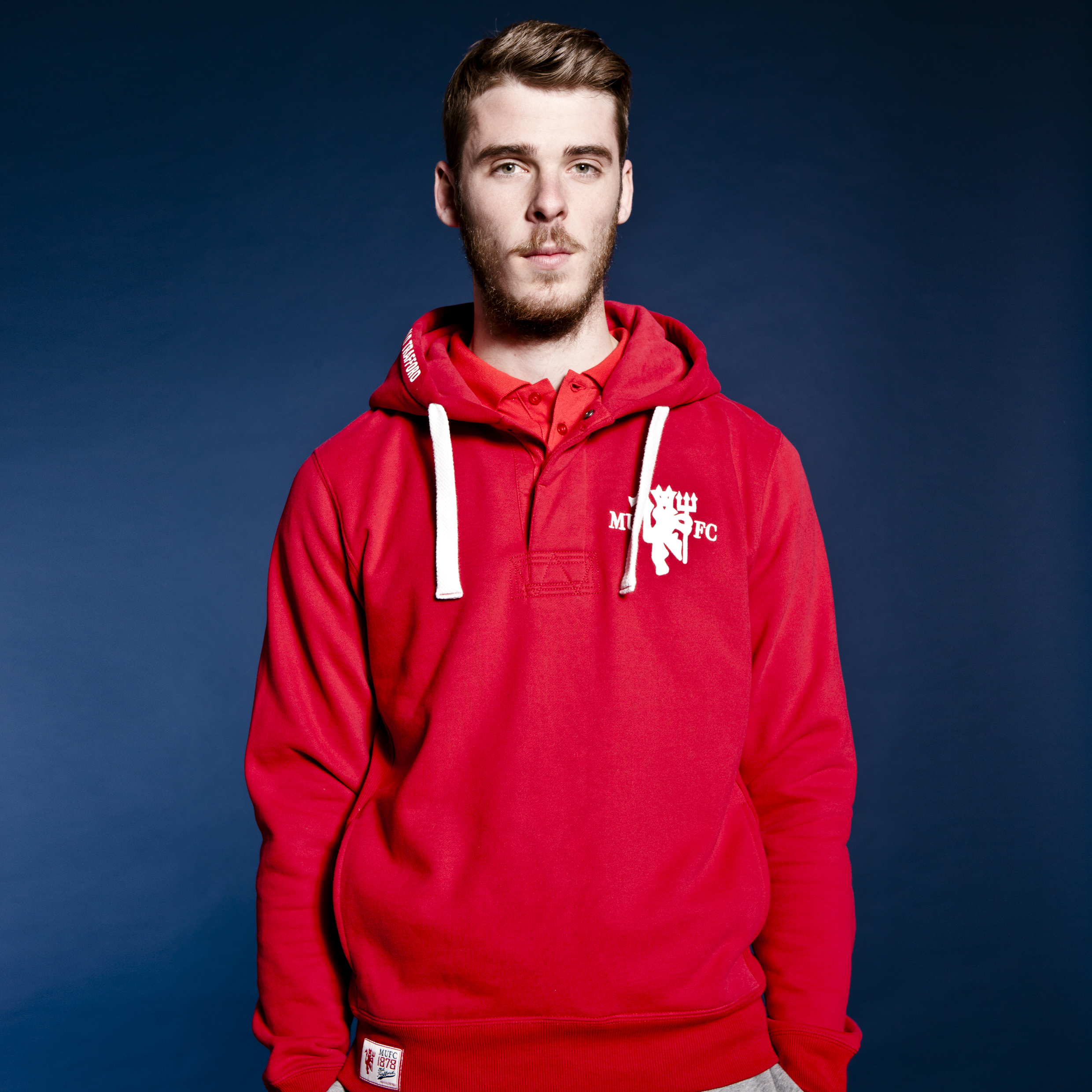 Manchester United Heritage Red Devil Placket Hoody - Rooster - Mens