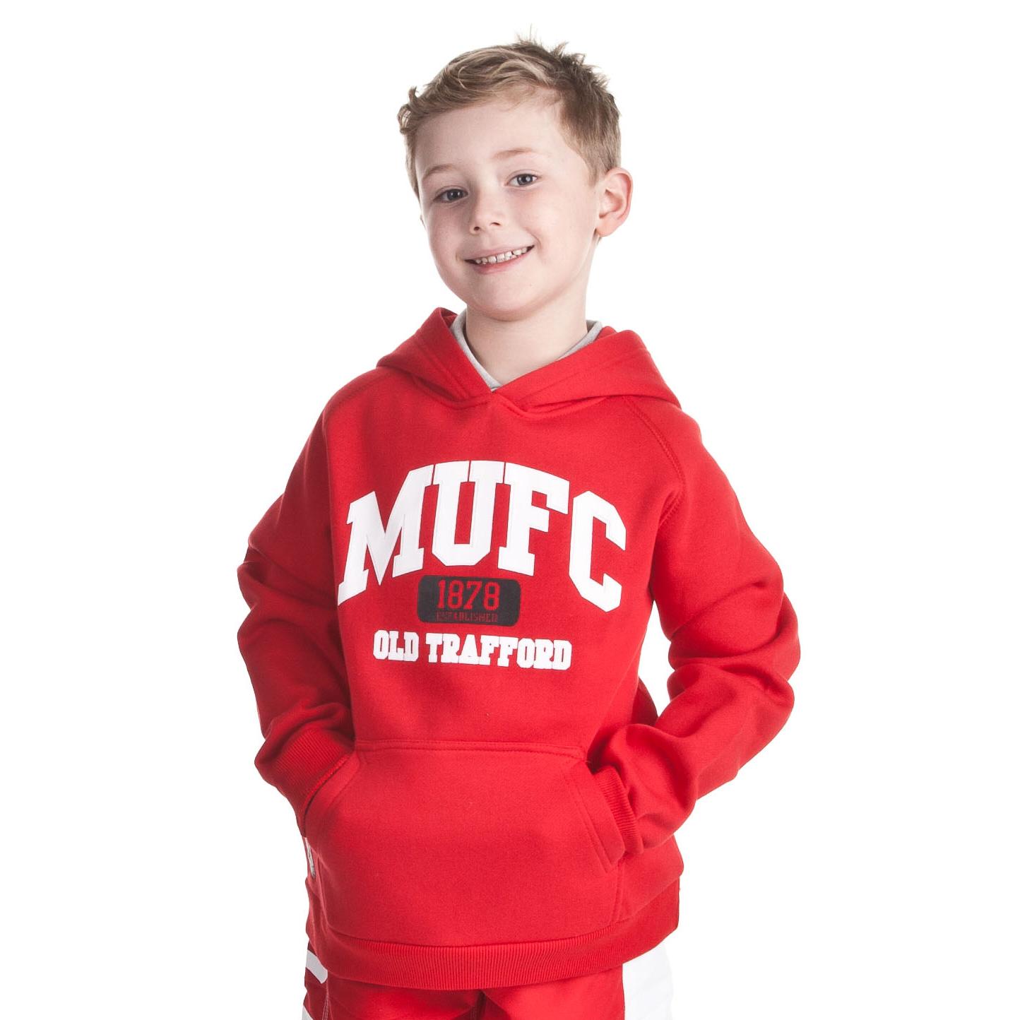 Manchester United 1878 Hoody - OT Red - Older Boys