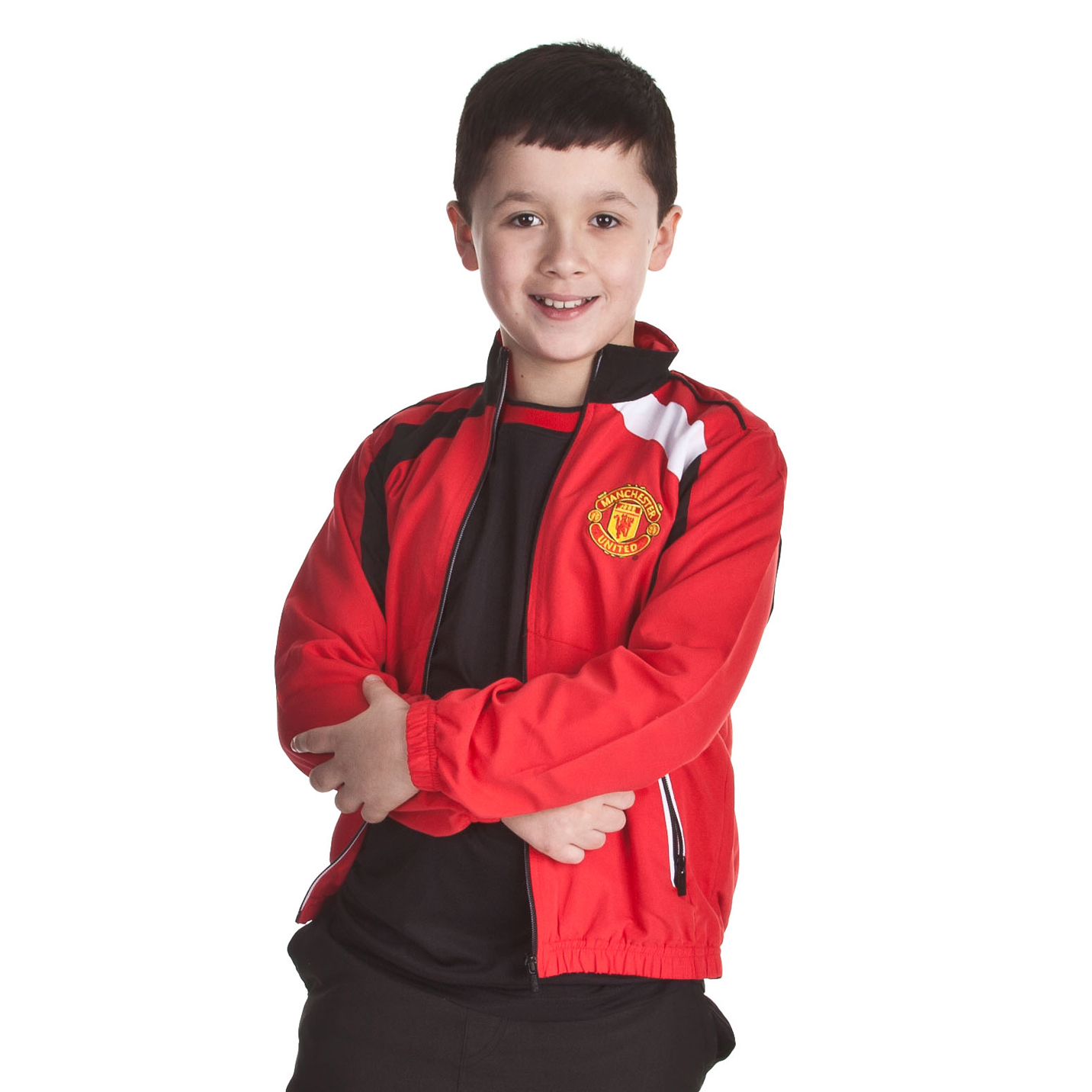 Manchester United Woven Track Jacket - OT Red - Older Boys
