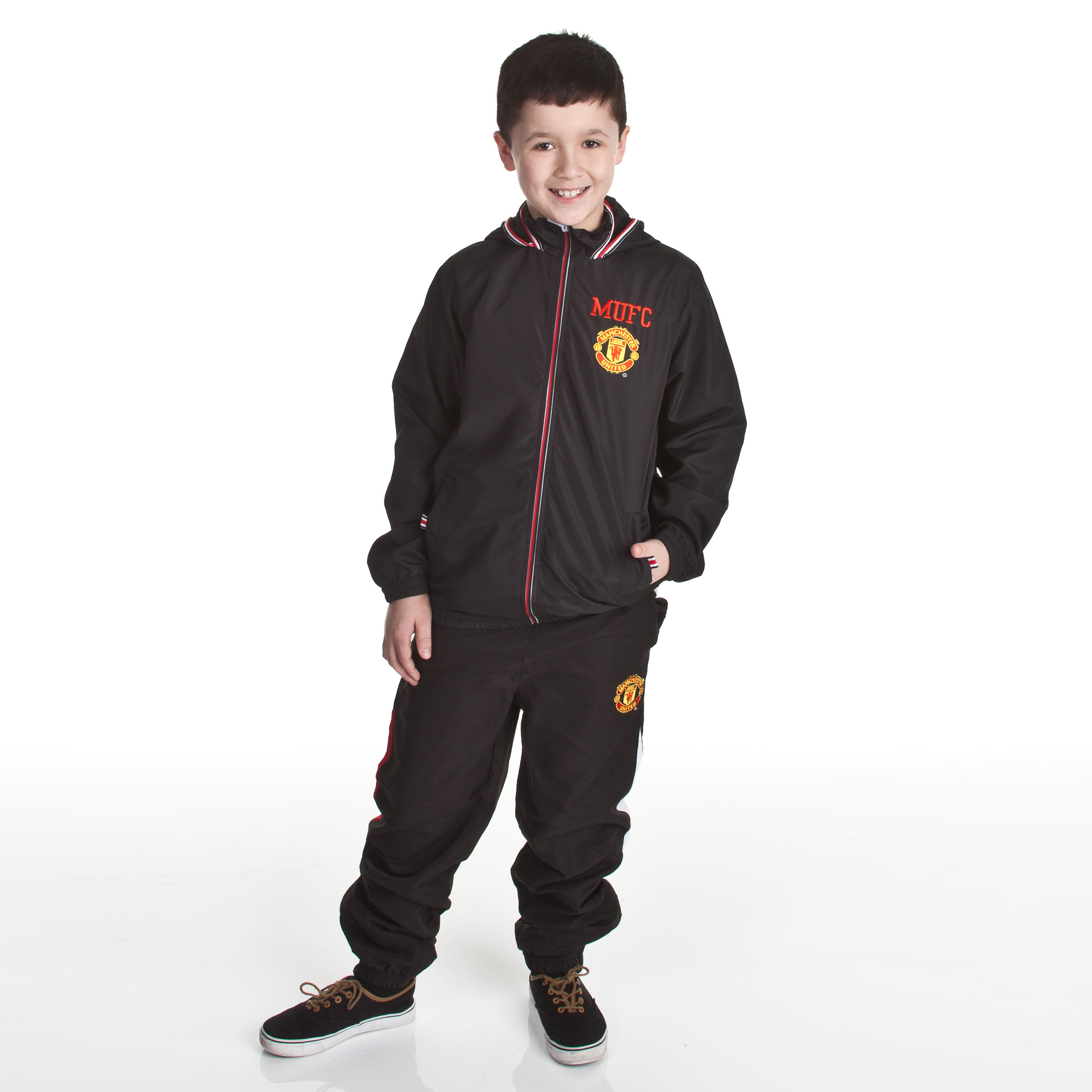 Manchester United Woven Track Pant - Black - Older Boys