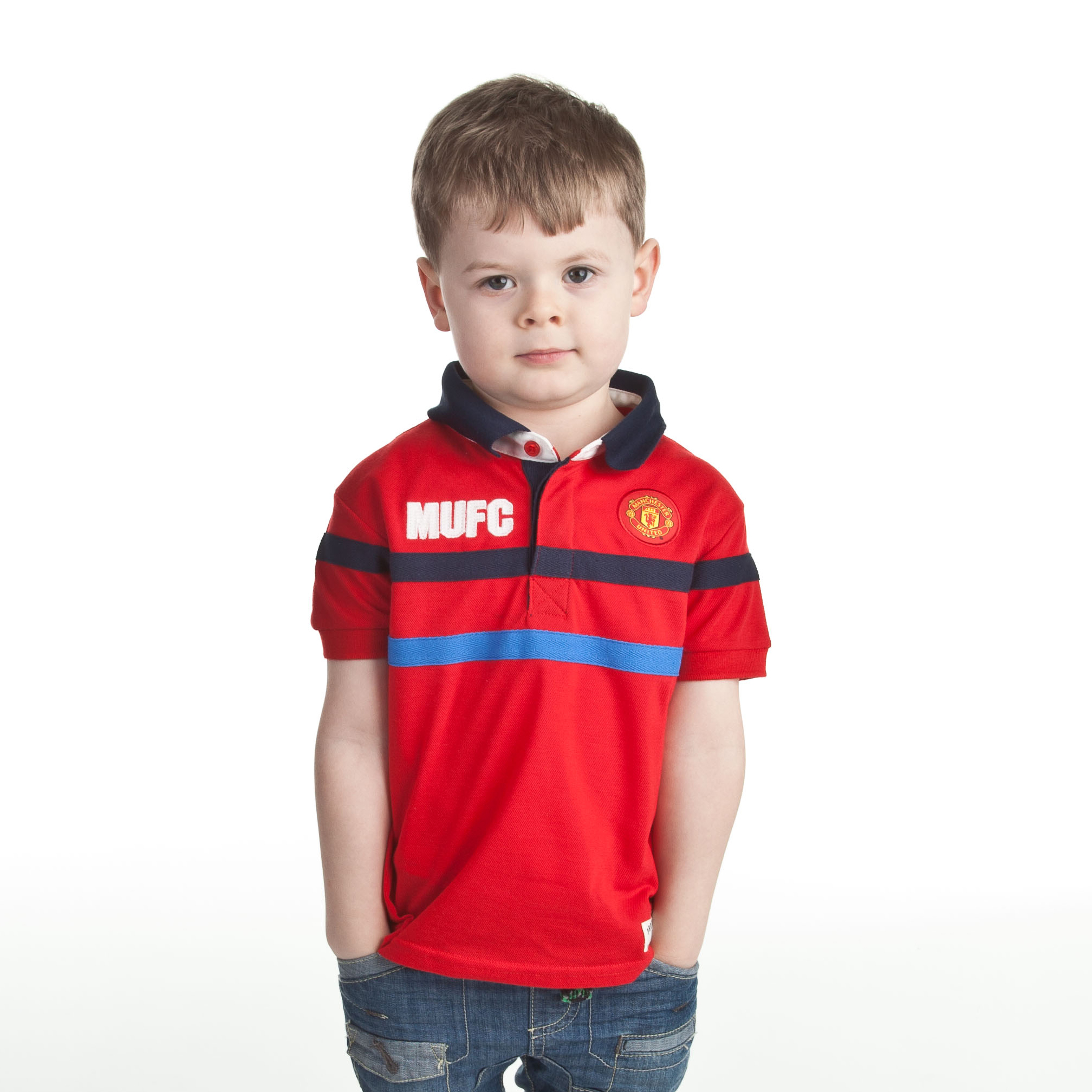 Manchester United 78 Pique Polo - OT Red - Infant Boys