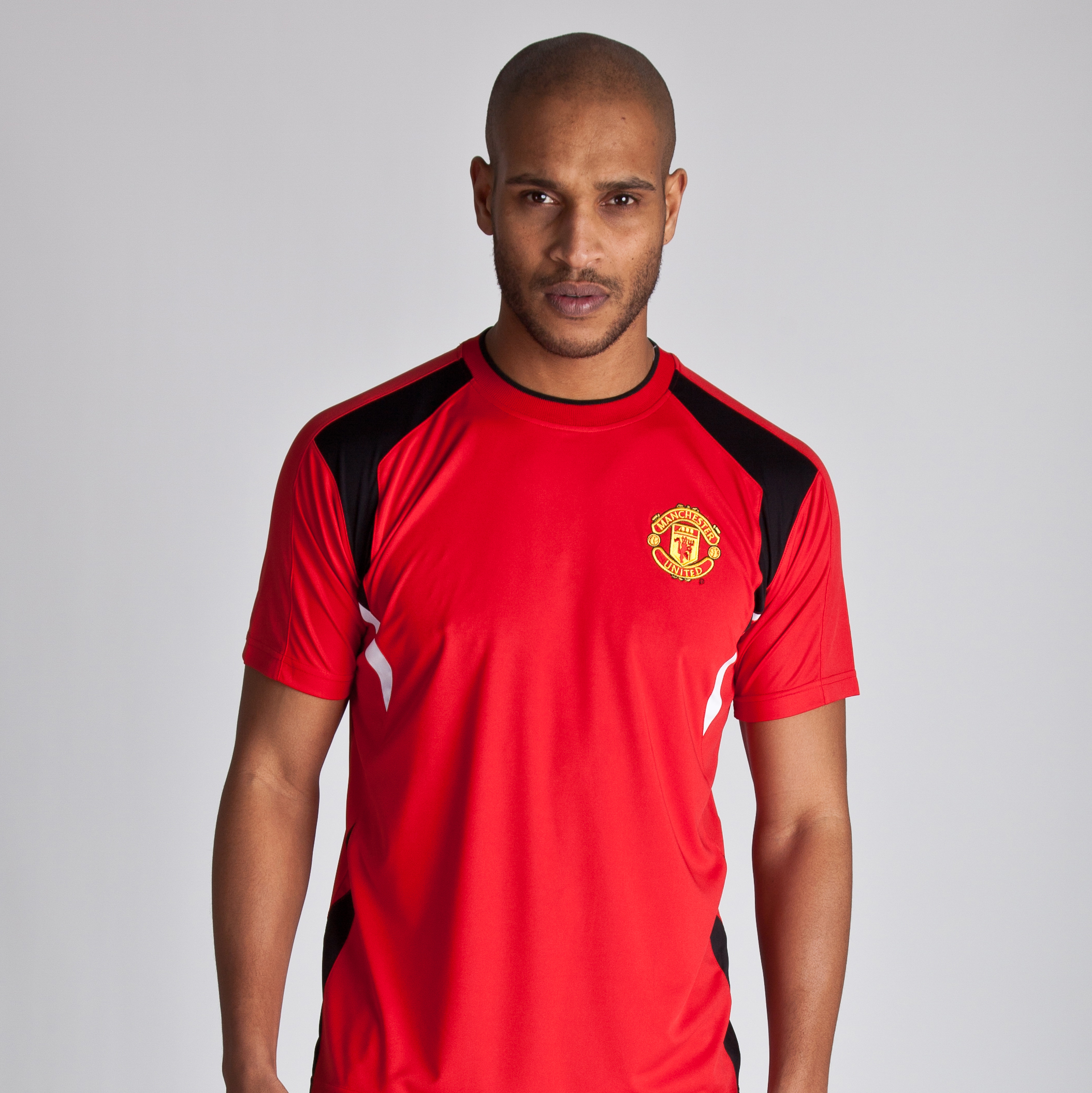 Manchester United Classic Poly Panel T-Shirt - OT Red - Mens
