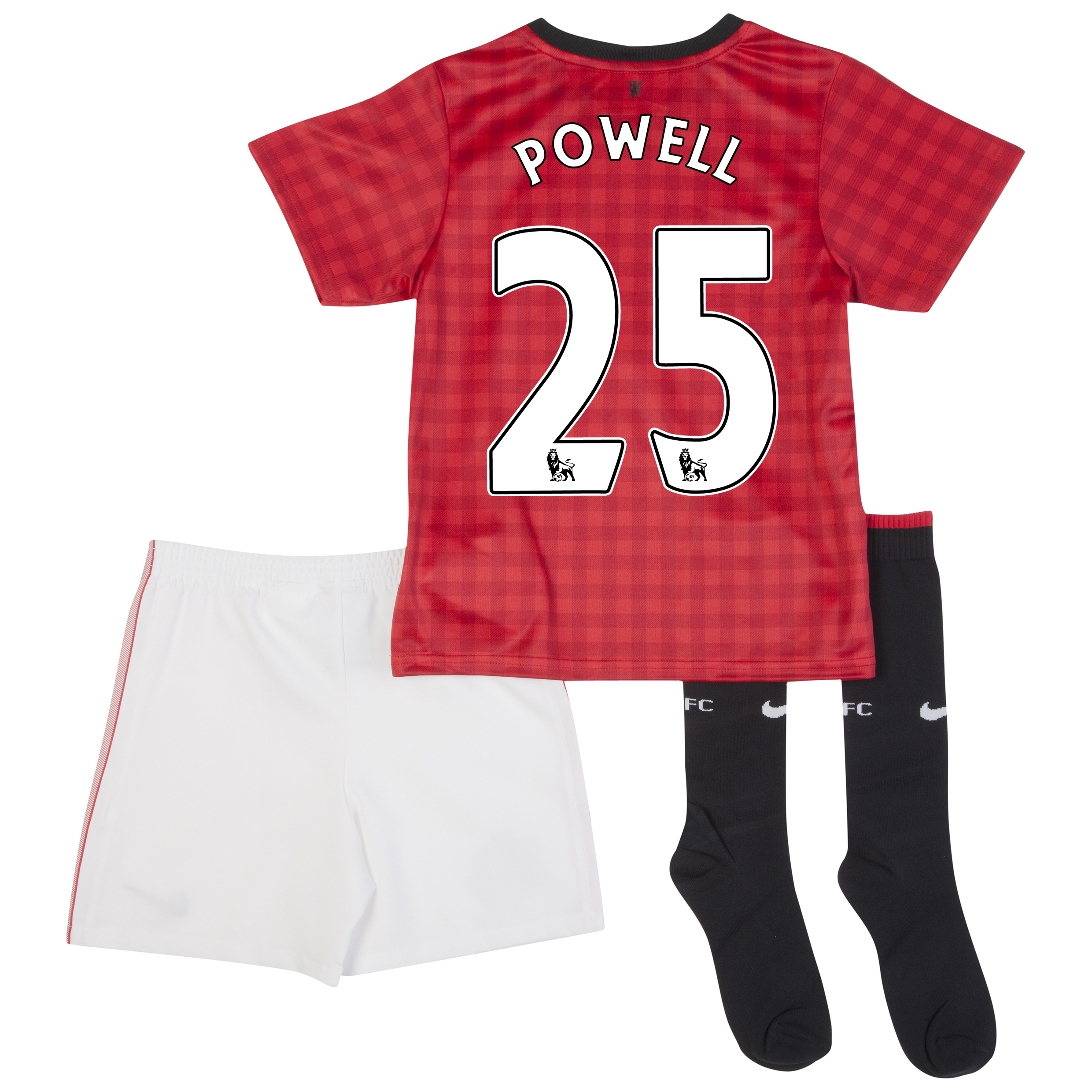 Manchester United Home Kit 2012/13 -  Little Boys with Powell 25 printing