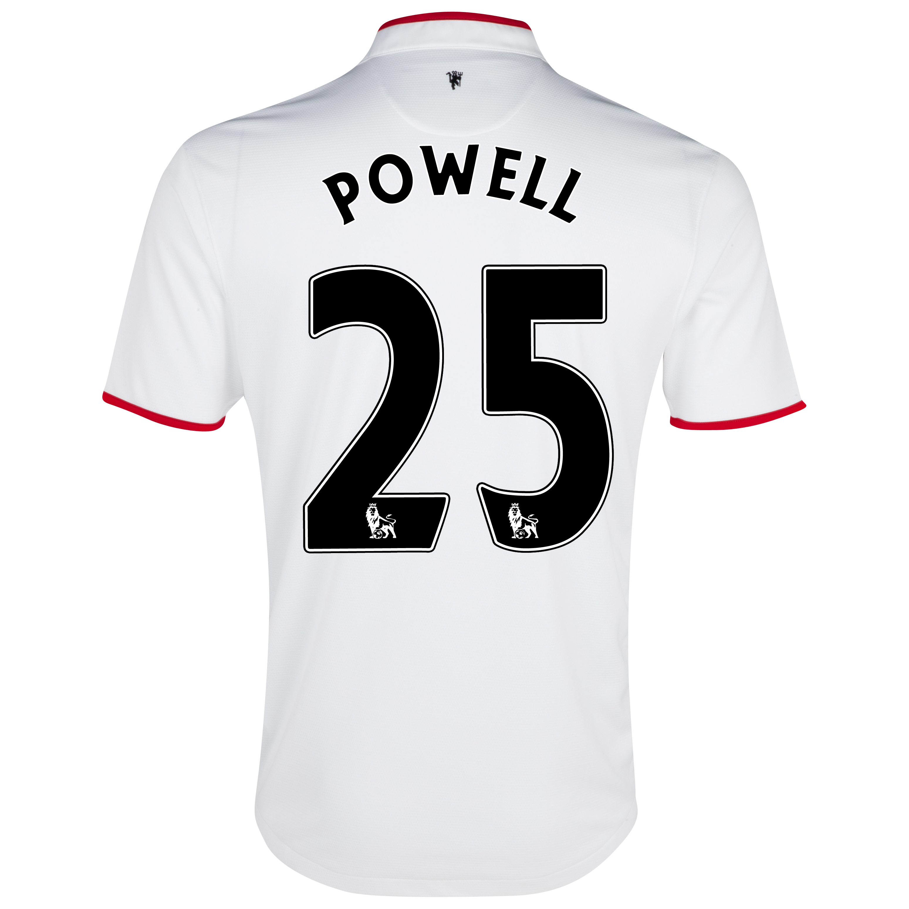 Manchester United Away Shirt 2012/13 with Powell 25 printing