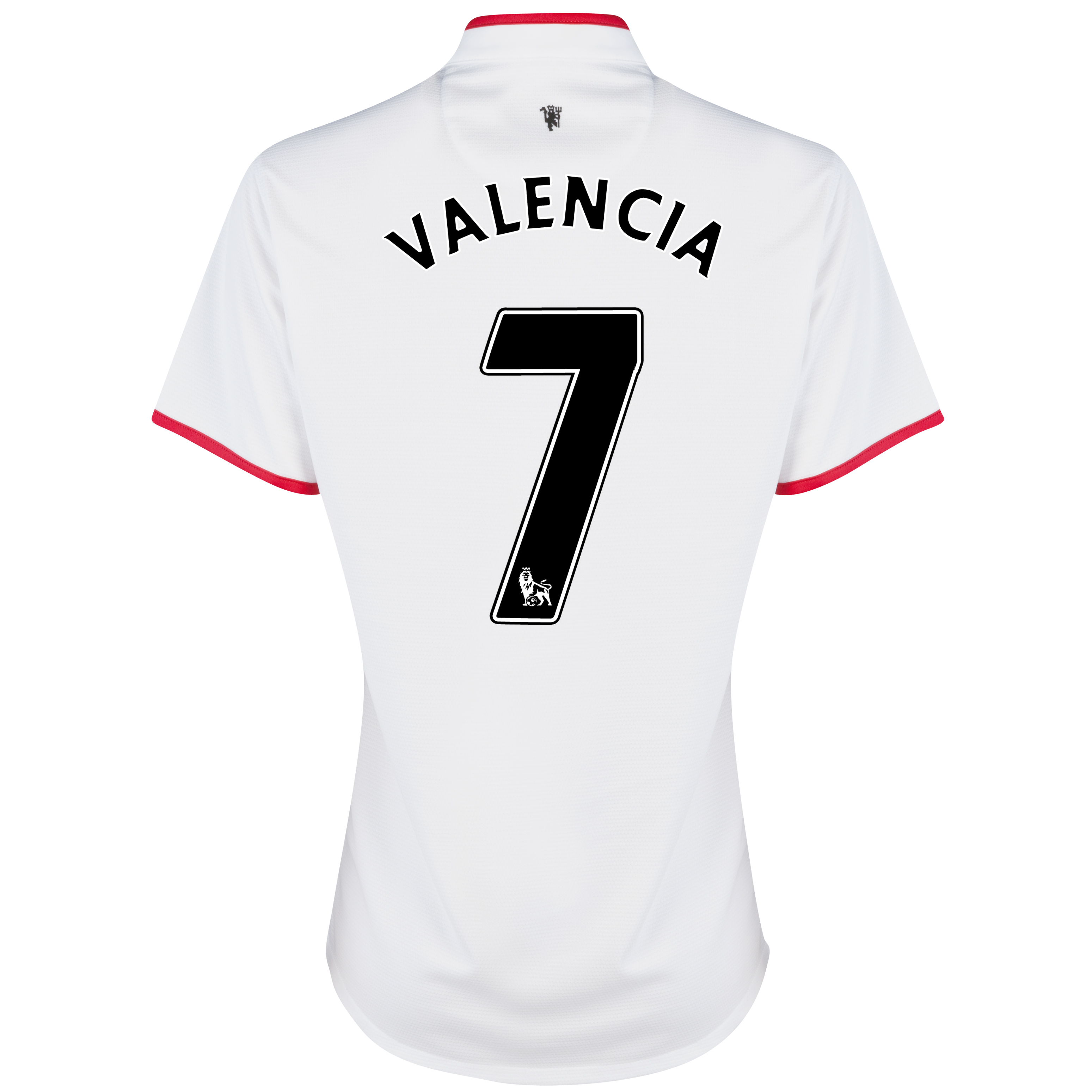 Manchester United Away Shirt 2012/13 - Womens with Valencia 7 printing
