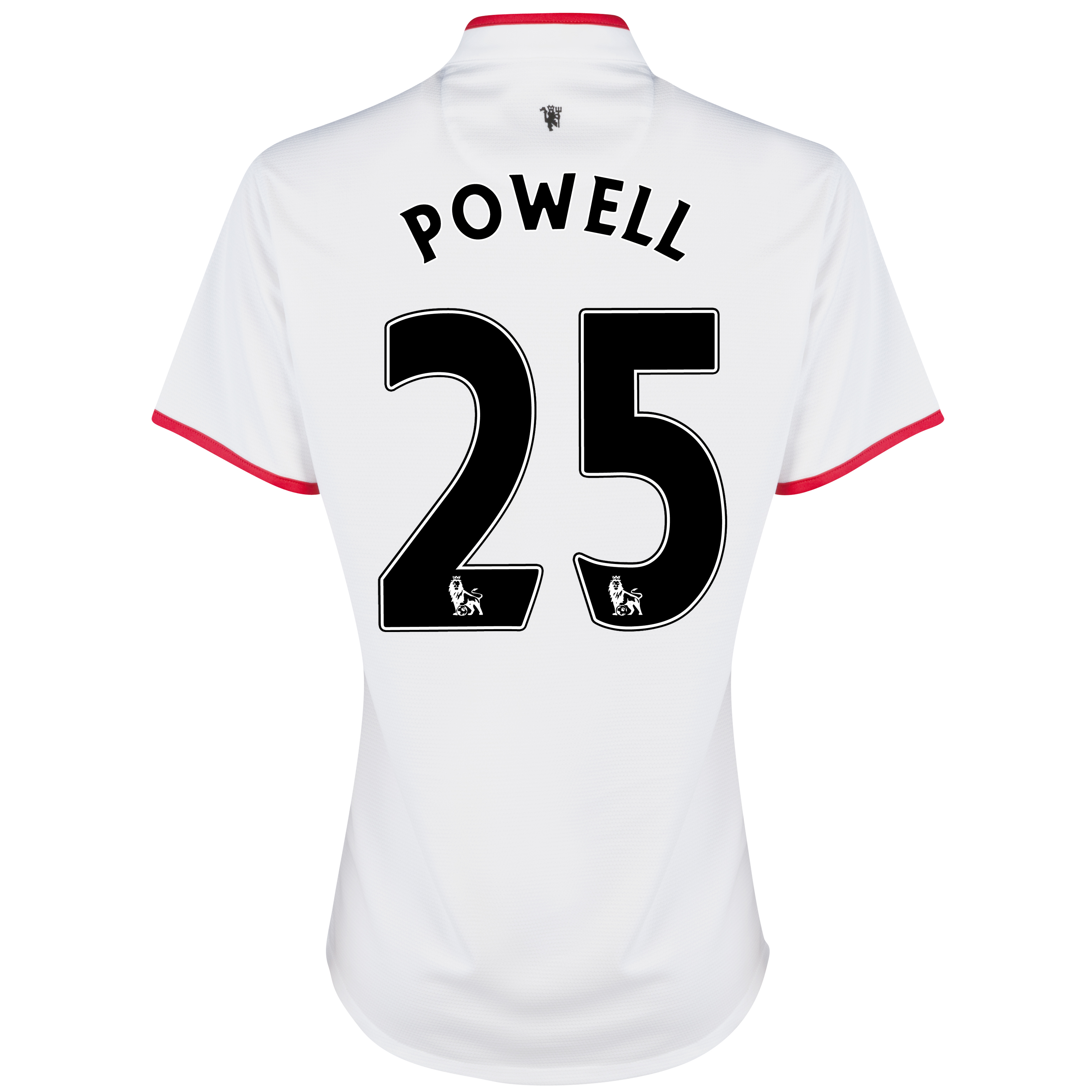 Manchester United Away Shirt 2012/13 - Womens with Powell 25 printing