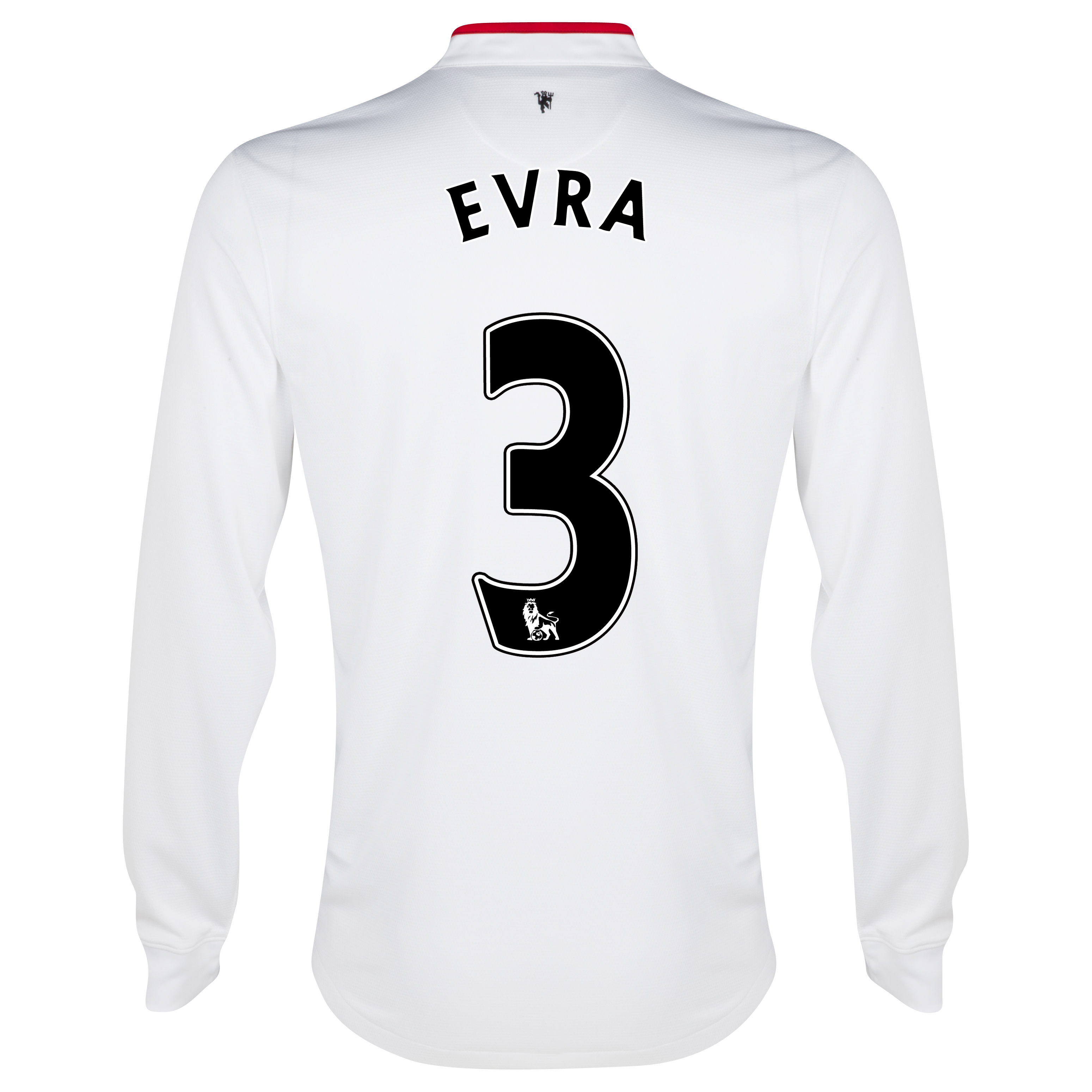 Manchester United Away Shirt 2012/13 - Long Sleeved - Kids with Evra 3 printing