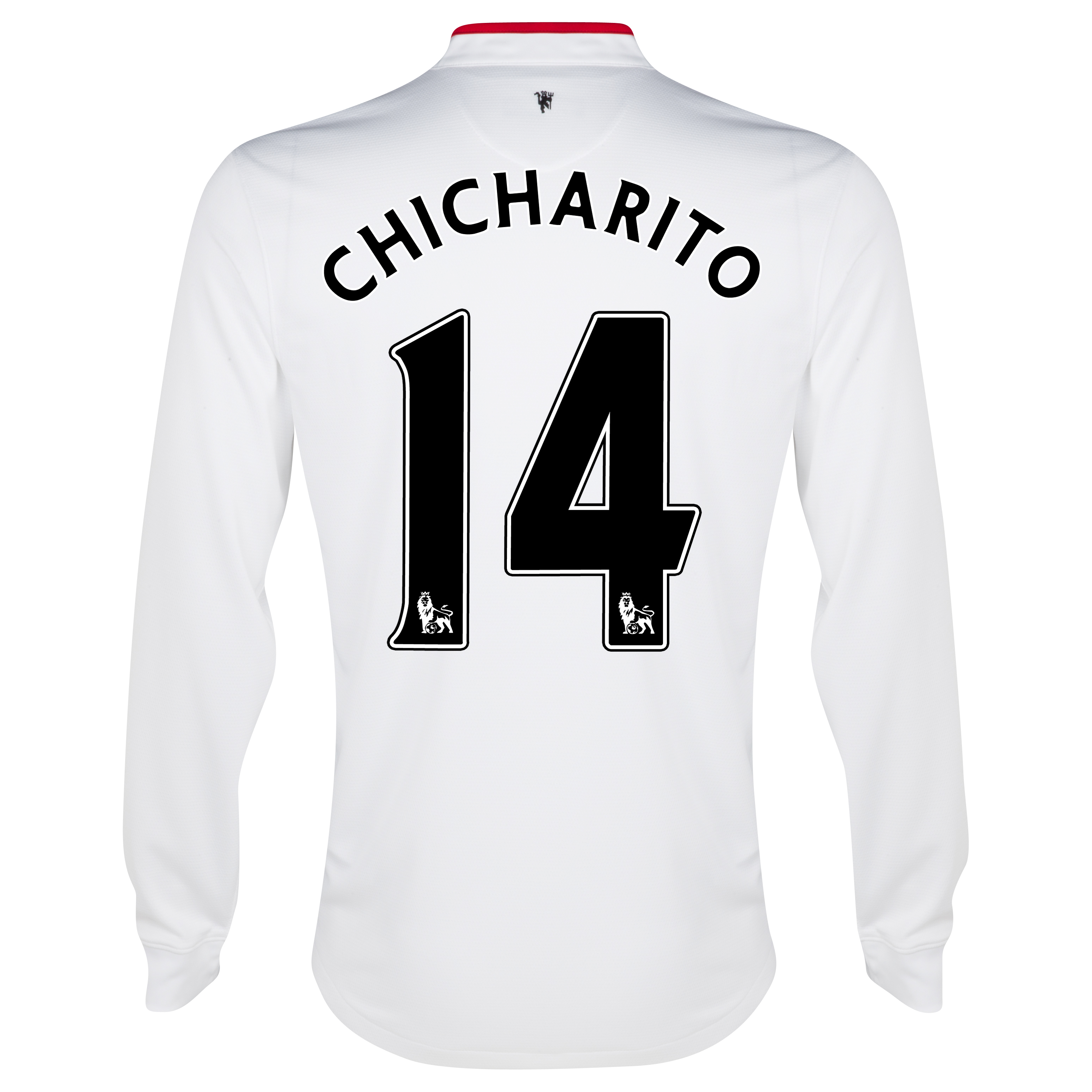 Manchester United Away Shirt 2012/13 - Long Sleeved - Kids with Chicharito 14 printing