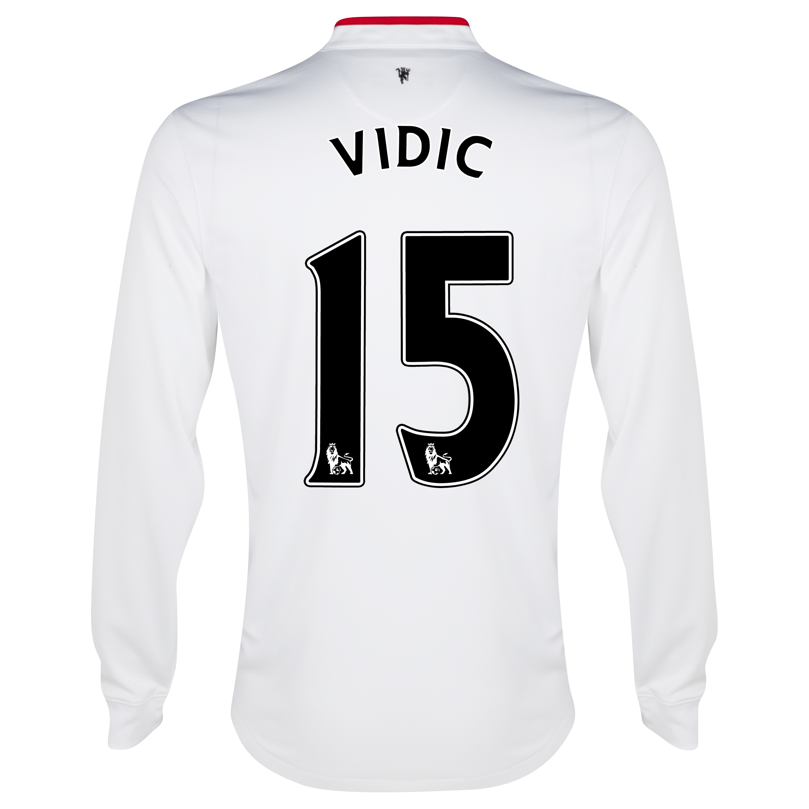 Manchester United Away Shirt 2012/13 - Long Sleeved - Kids with Vidic 15 printing