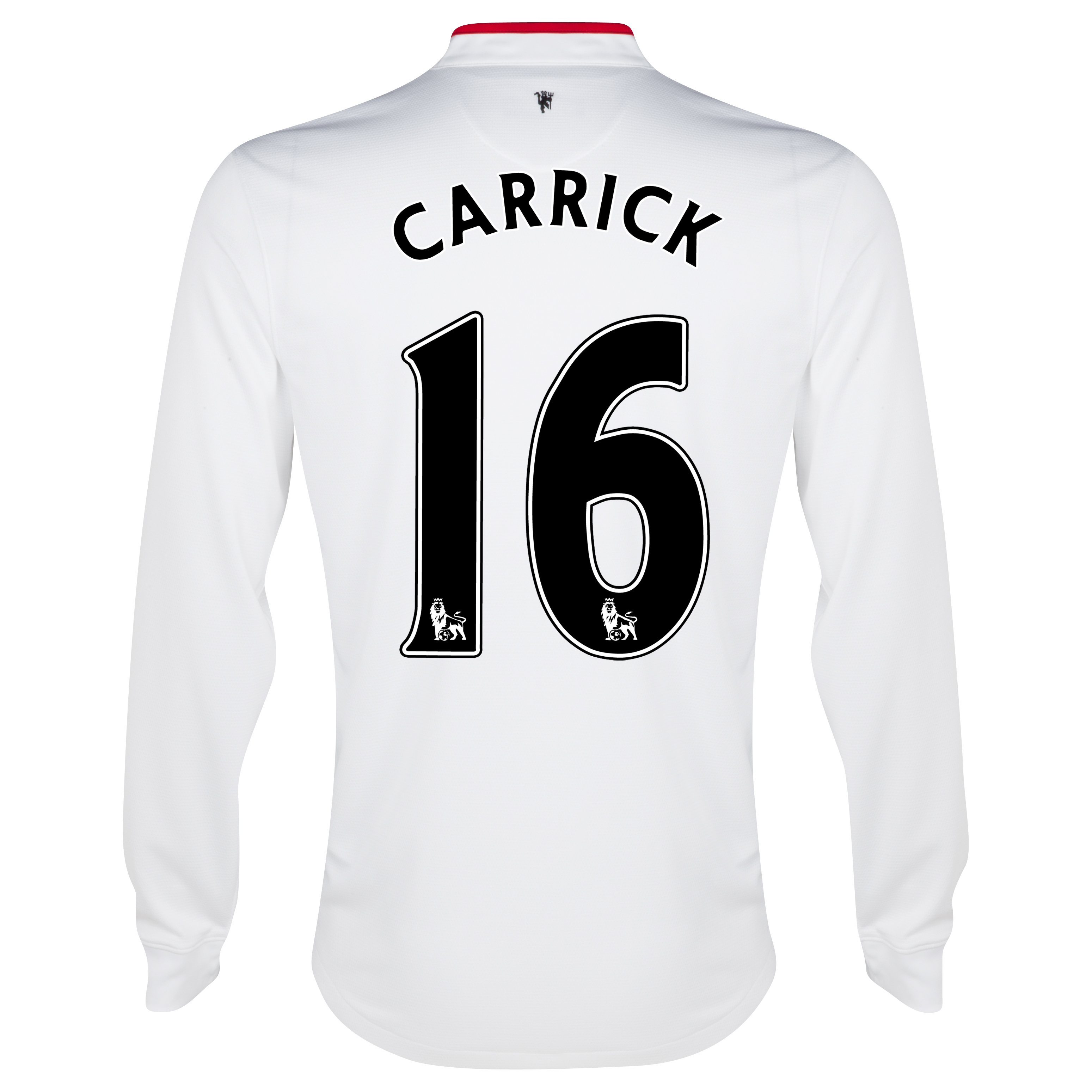 Manchester United Away Shirt 2012/13 - Long Sleeved - Kids with Carrick 16 printing