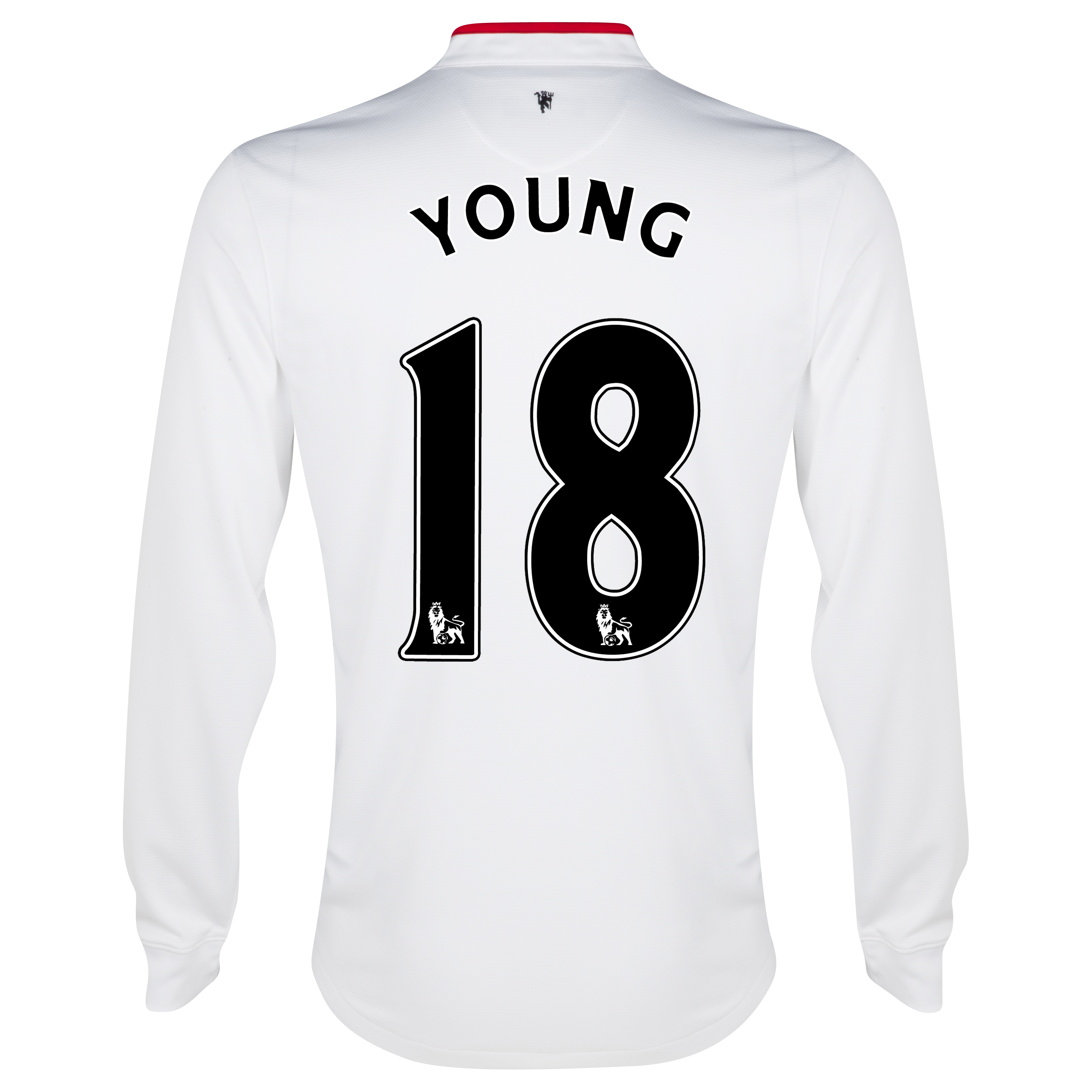 Manchester United Away Shirt 2012/13 - Long Sleeved - Kids with Young 18 printing