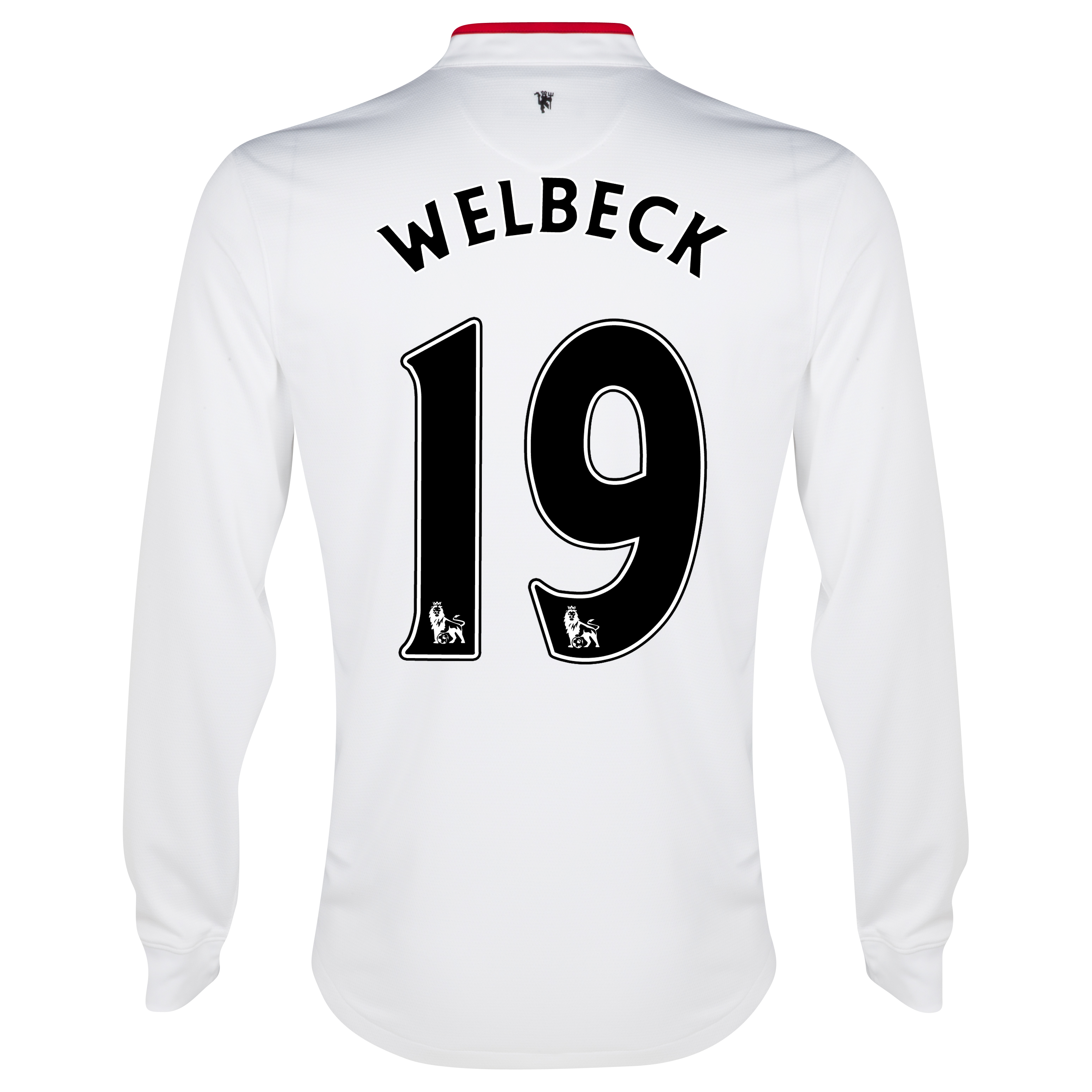 Manchester United Away Shirt 2012/13 - Long Sleeved - Kids with Welbeck 19 printing