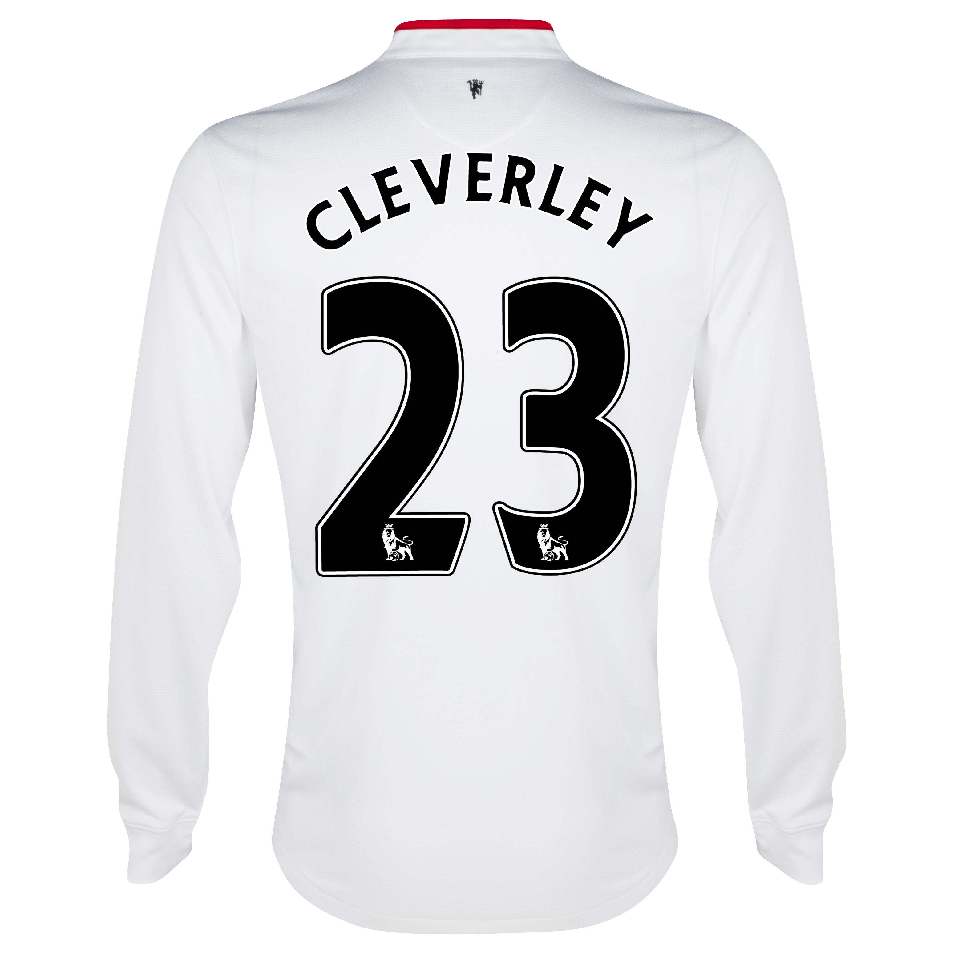 Manchester United Away Shirt 2012/13 - Long Sleeved - Kids with Cleverley 23 printing
