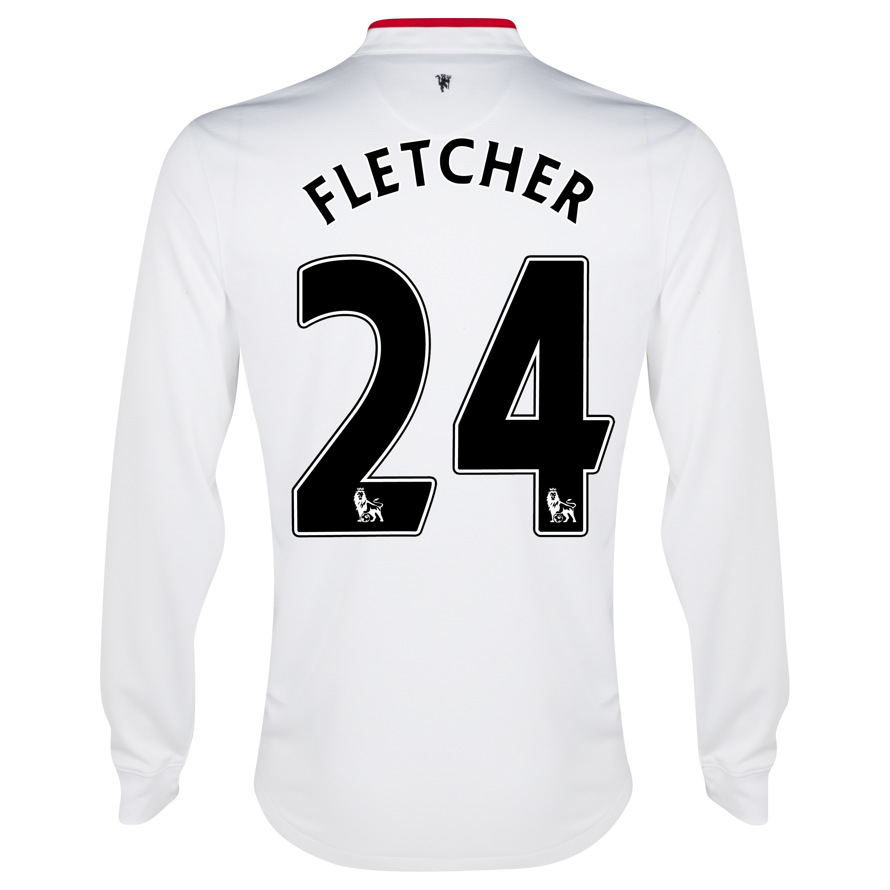 Manchester United Away Shirt 2012/13 - Long Sleeved - Kids with Fletcher 24 printing