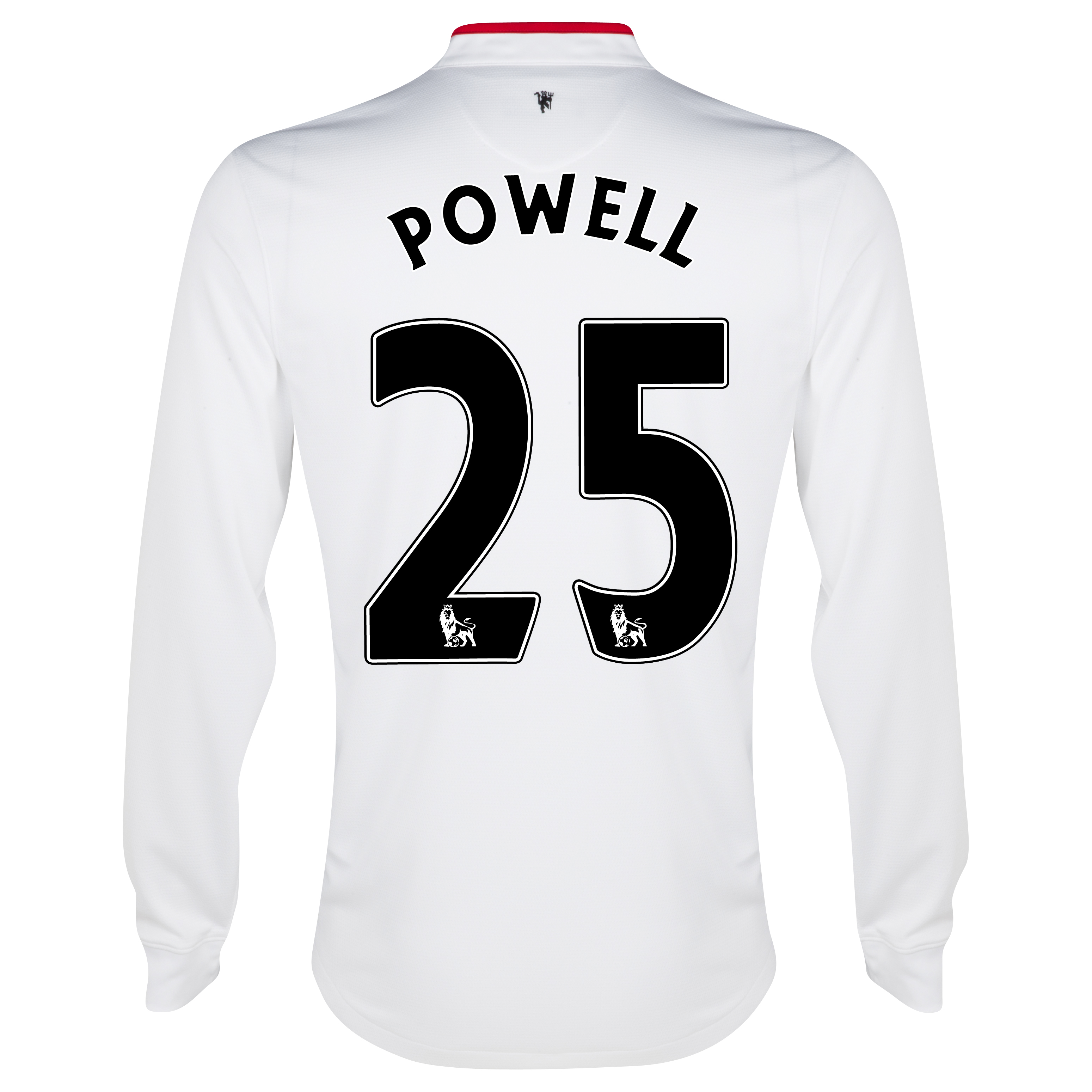 Manchester United Away Shirt 2012/13 - Long Sleeved - Kids with Powell 25 printing