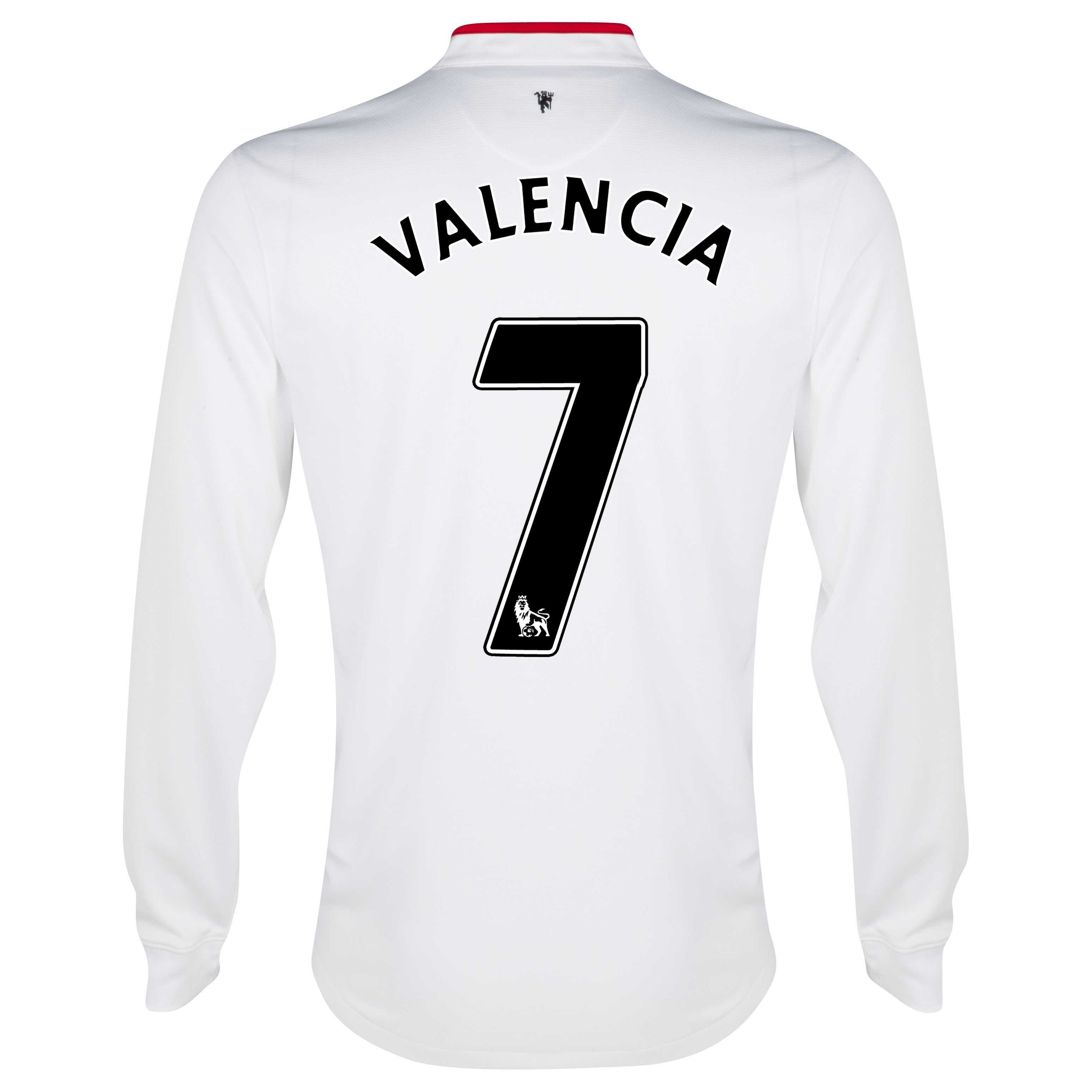 Manchester United Away Shirt 2012/13 - Long Sleeved - Youths with Valencia 7 printing