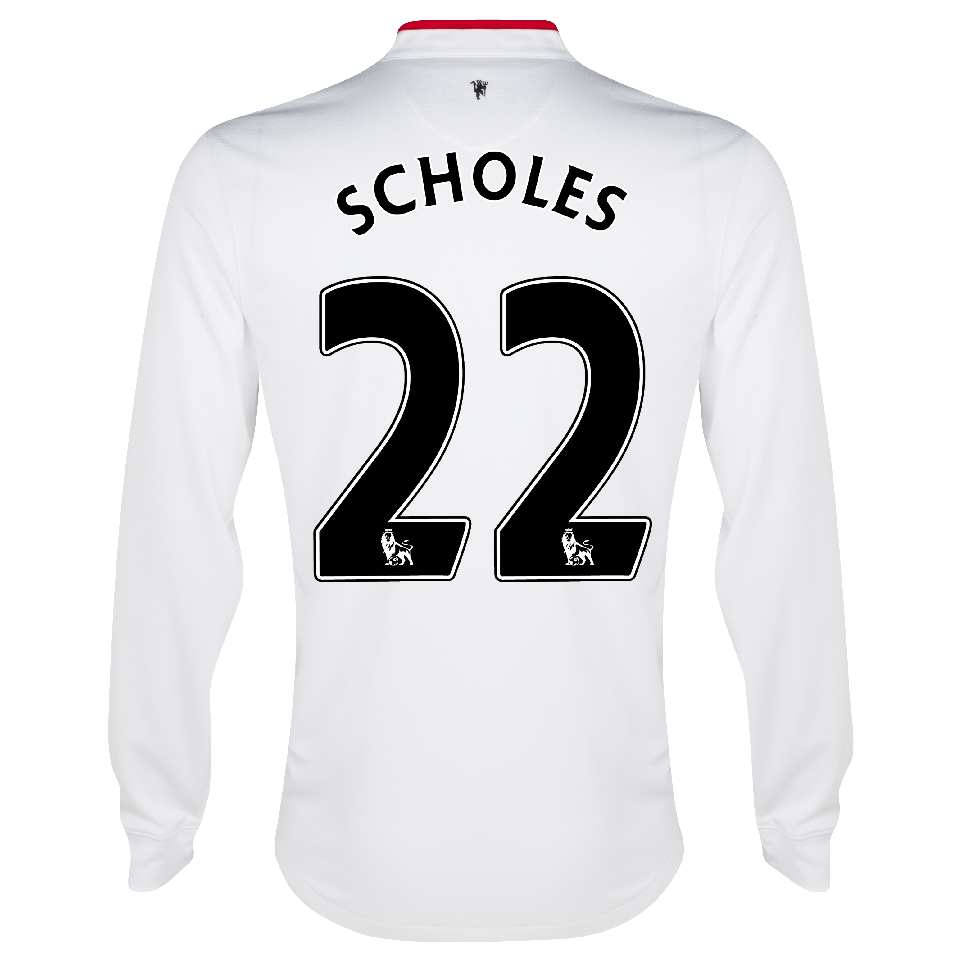 Manchester United Away Shirt 2012/13 - Long Sleeved - Youths with Scholes 22 printing
