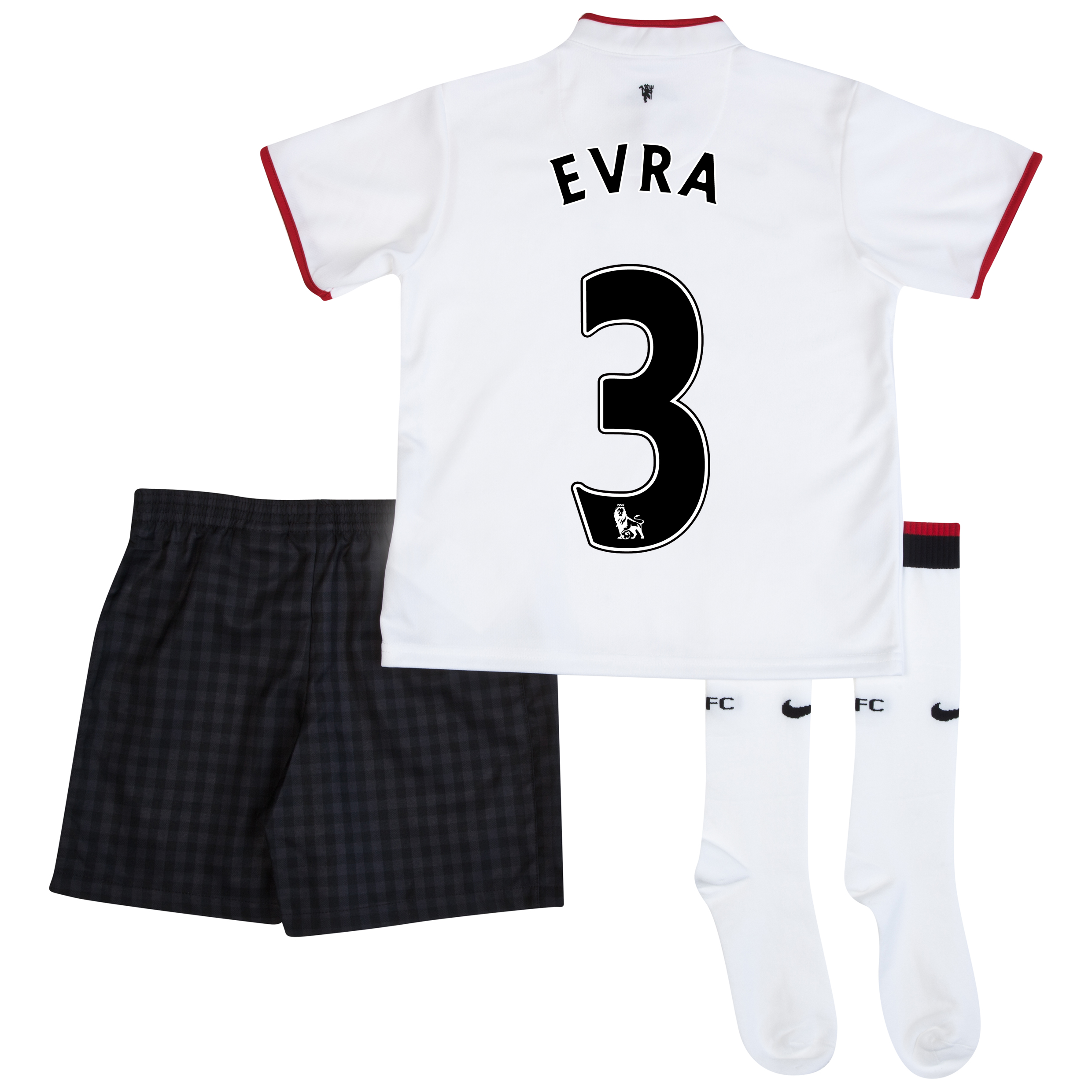 Manchester United Away Kit 2012/13 - Little Boys with Evra 3 printing