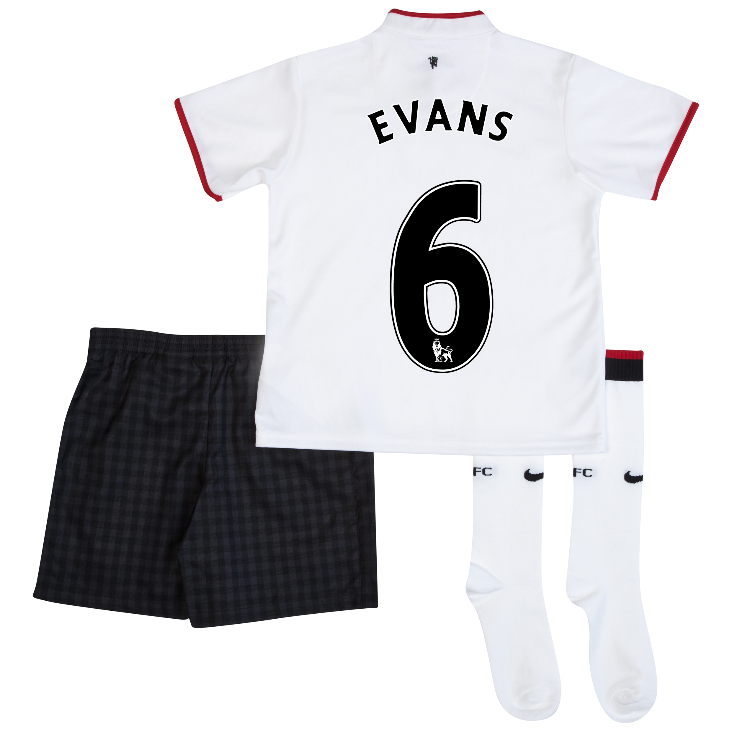 Manchester United Away Kit 2012/13 - Little Boys with Evans 6 printing