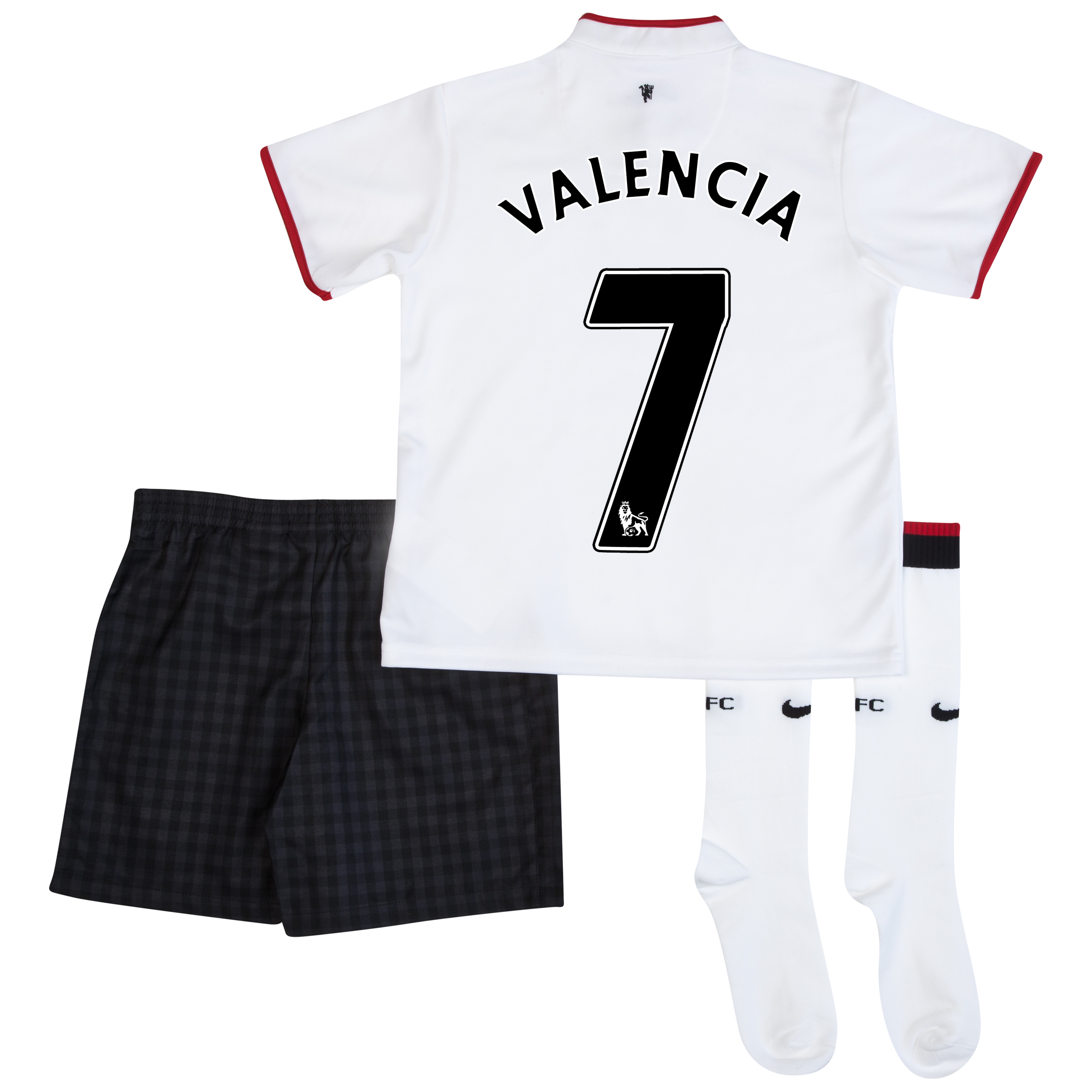 Manchester United Away Kit 2012/13 - Little Boys with Valencia 7 printing