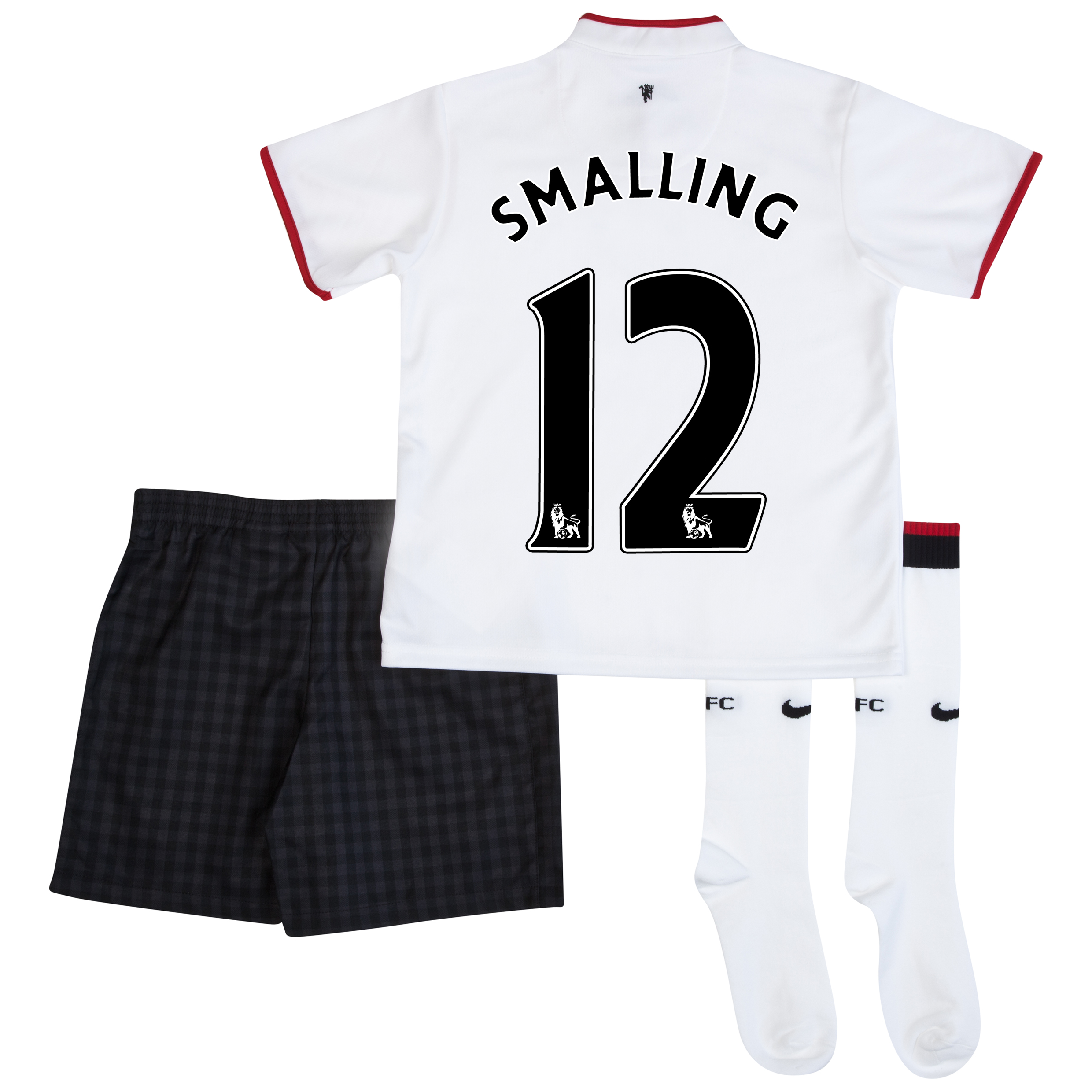 Manchester United Away Kit 2012/13 - Little Boys with Smalling 12 printing