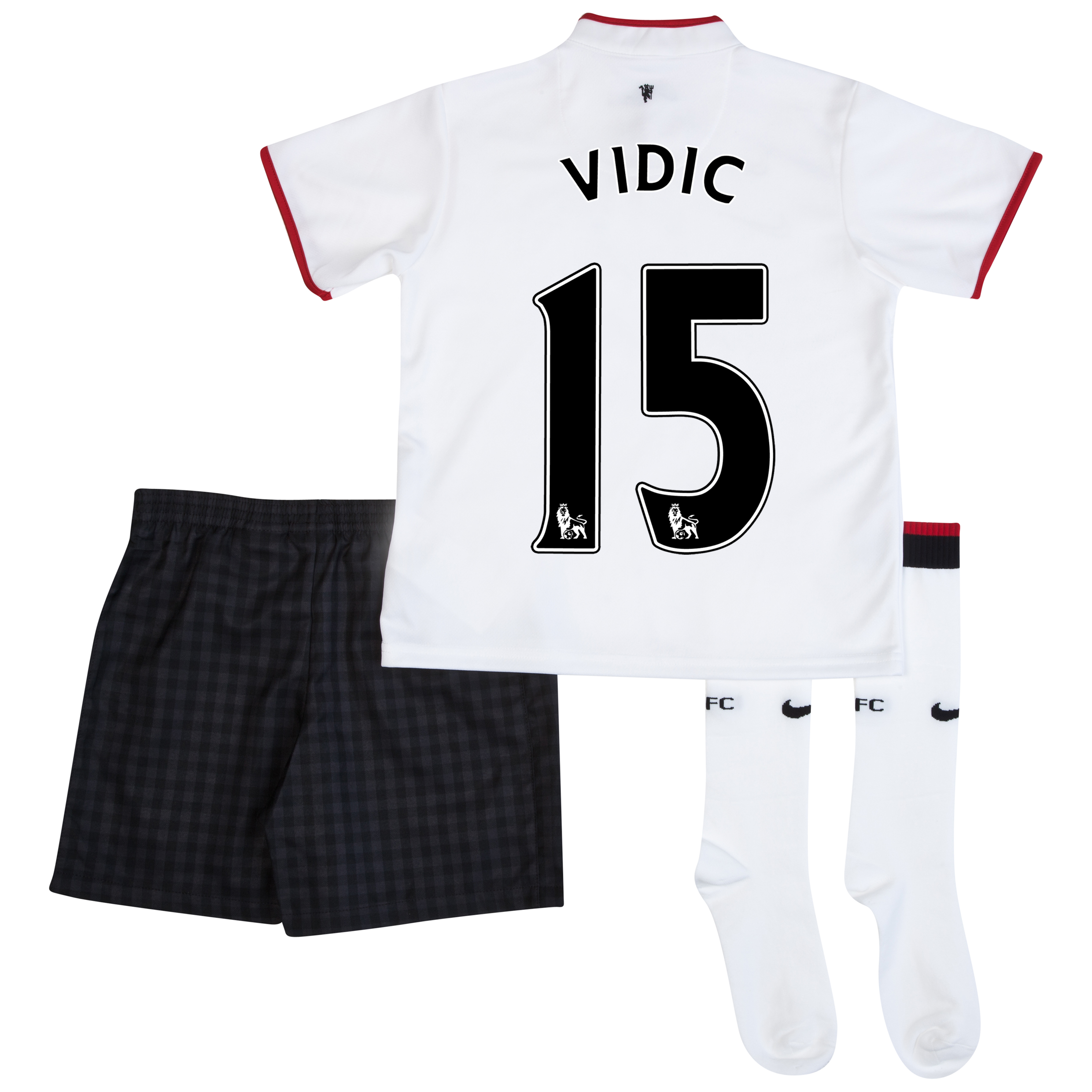 Manchester United Away Kit 2012/13 - Little Boys with Vidic 15 printing