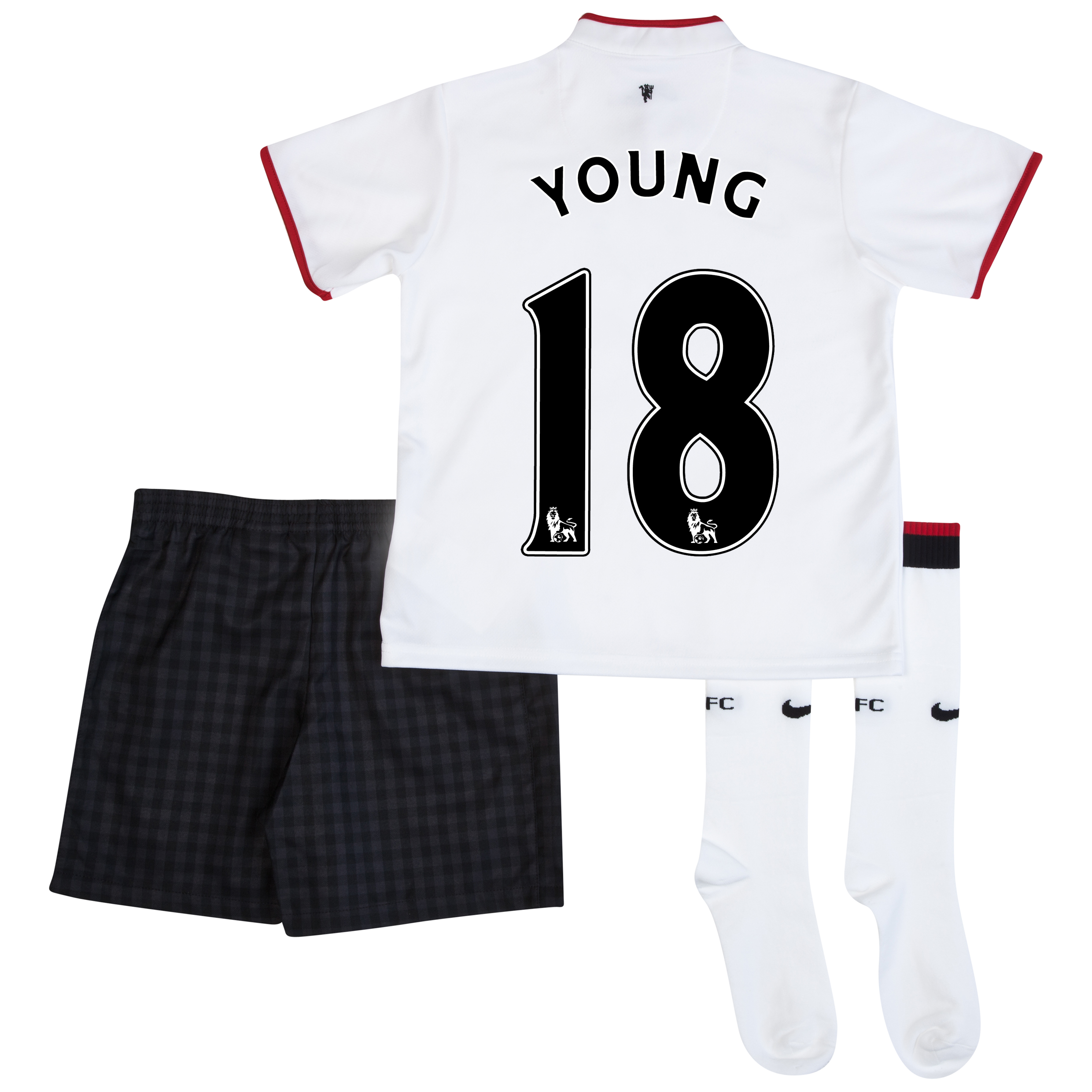 Manchester United Away Kit 2012/13 - Little Boys with Young 18 printing