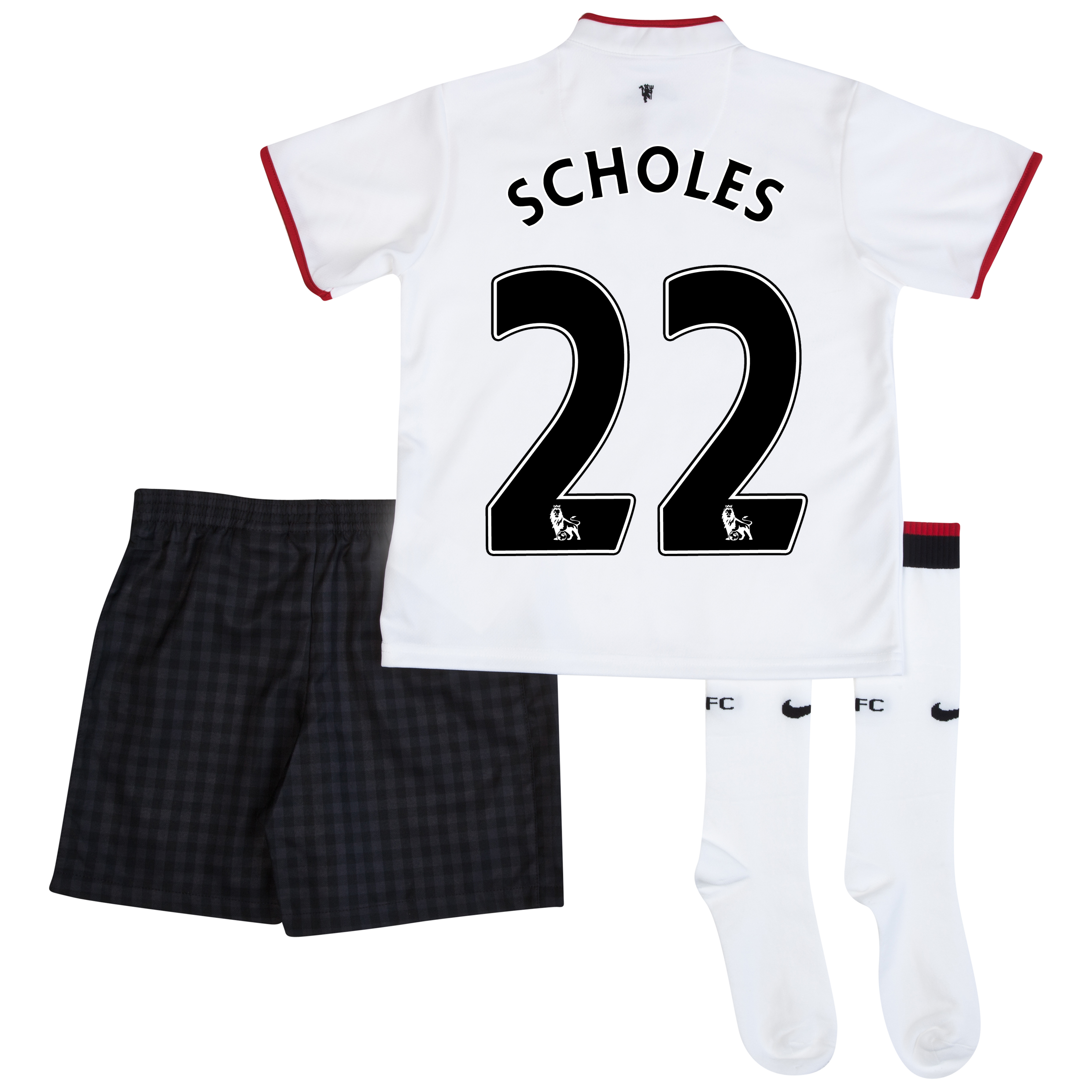 Manchester United Away Kit 2012/13 - Little Boys with Scholes 22 printing