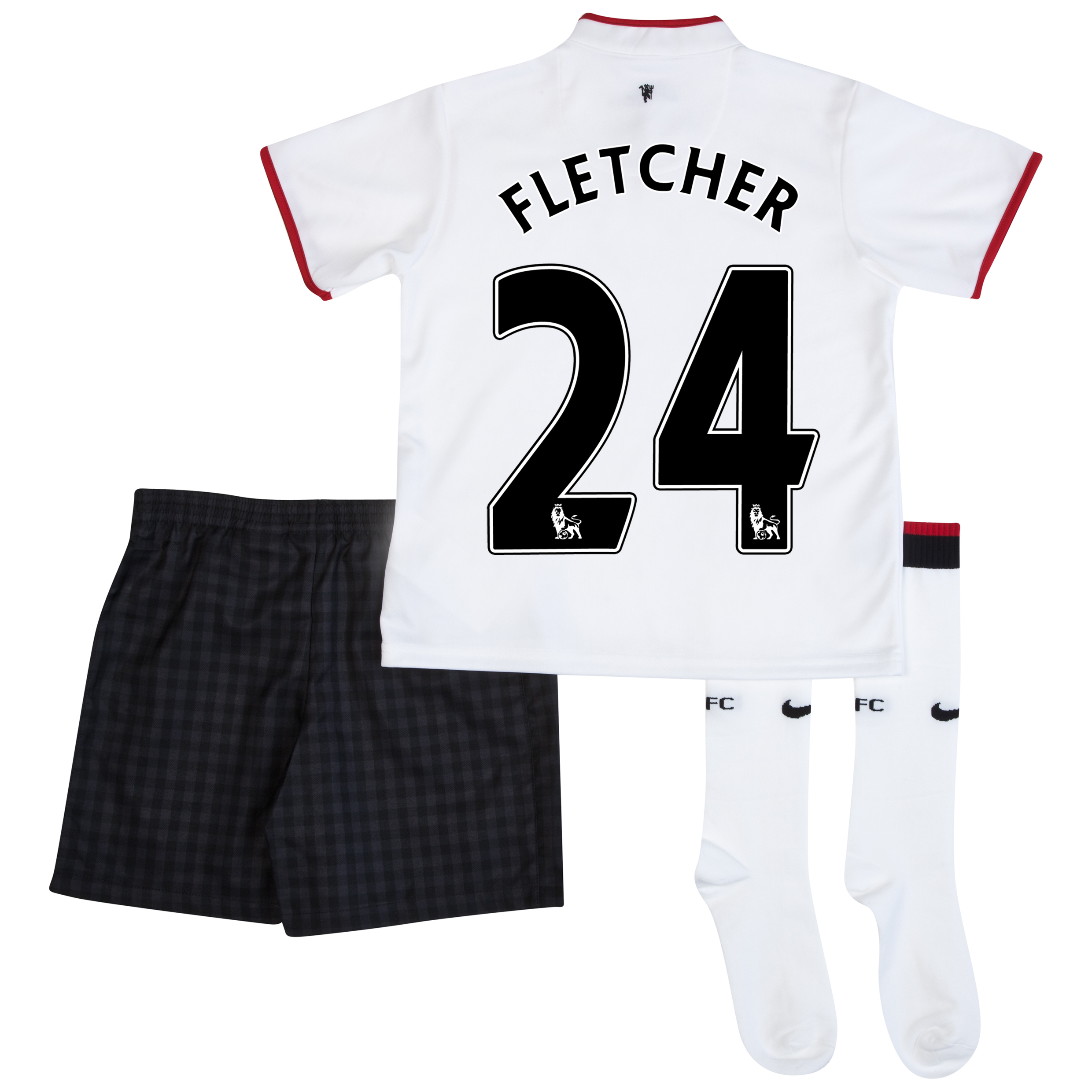Manchester United Away Kit 2012/13 - Little Boys with Fletcher 24 printing