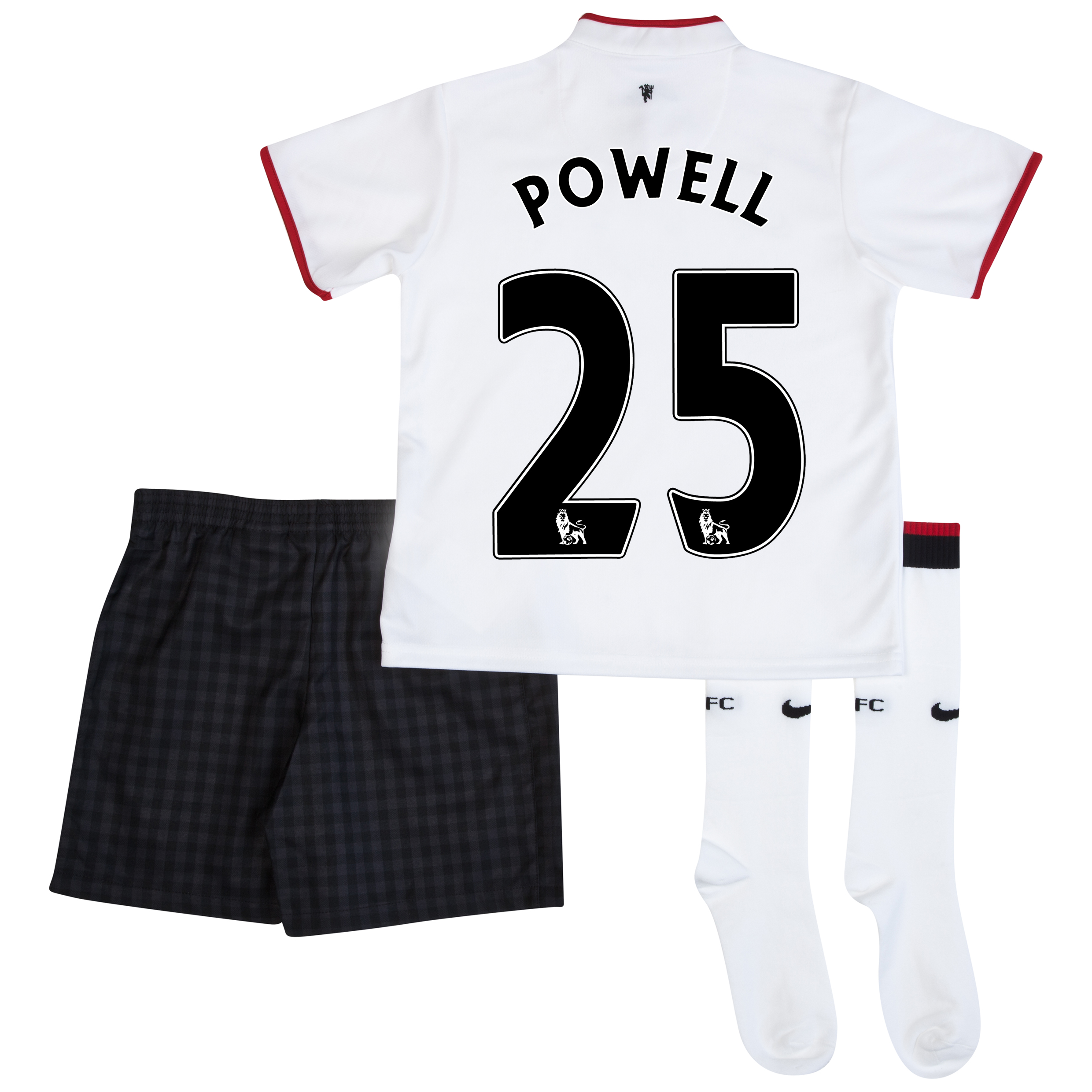 Manchester United Away Kit 2012/13 - Little Boys with Powell 25 printing