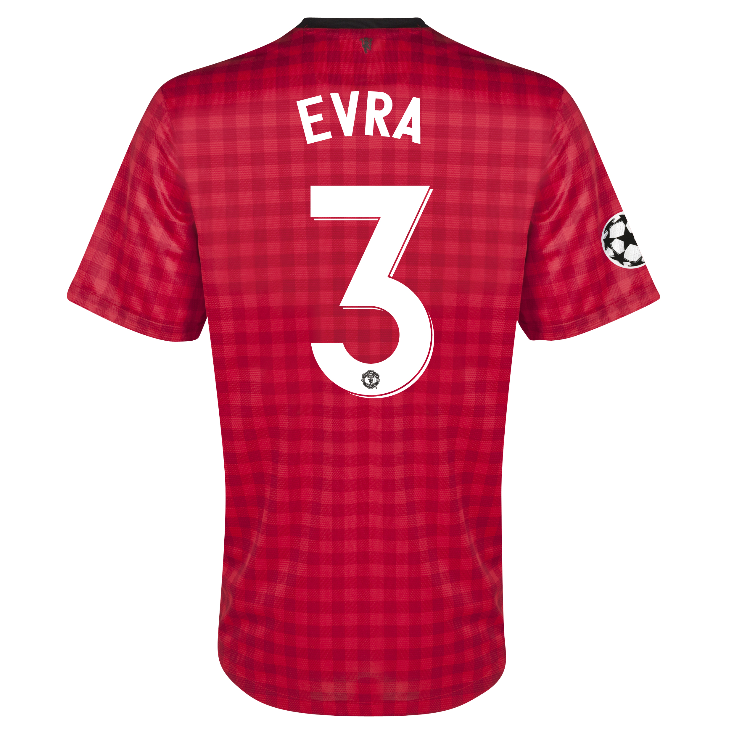 Manchester United UEFA Champions League Home Shirt 2012/13 with Evra 3 printing
