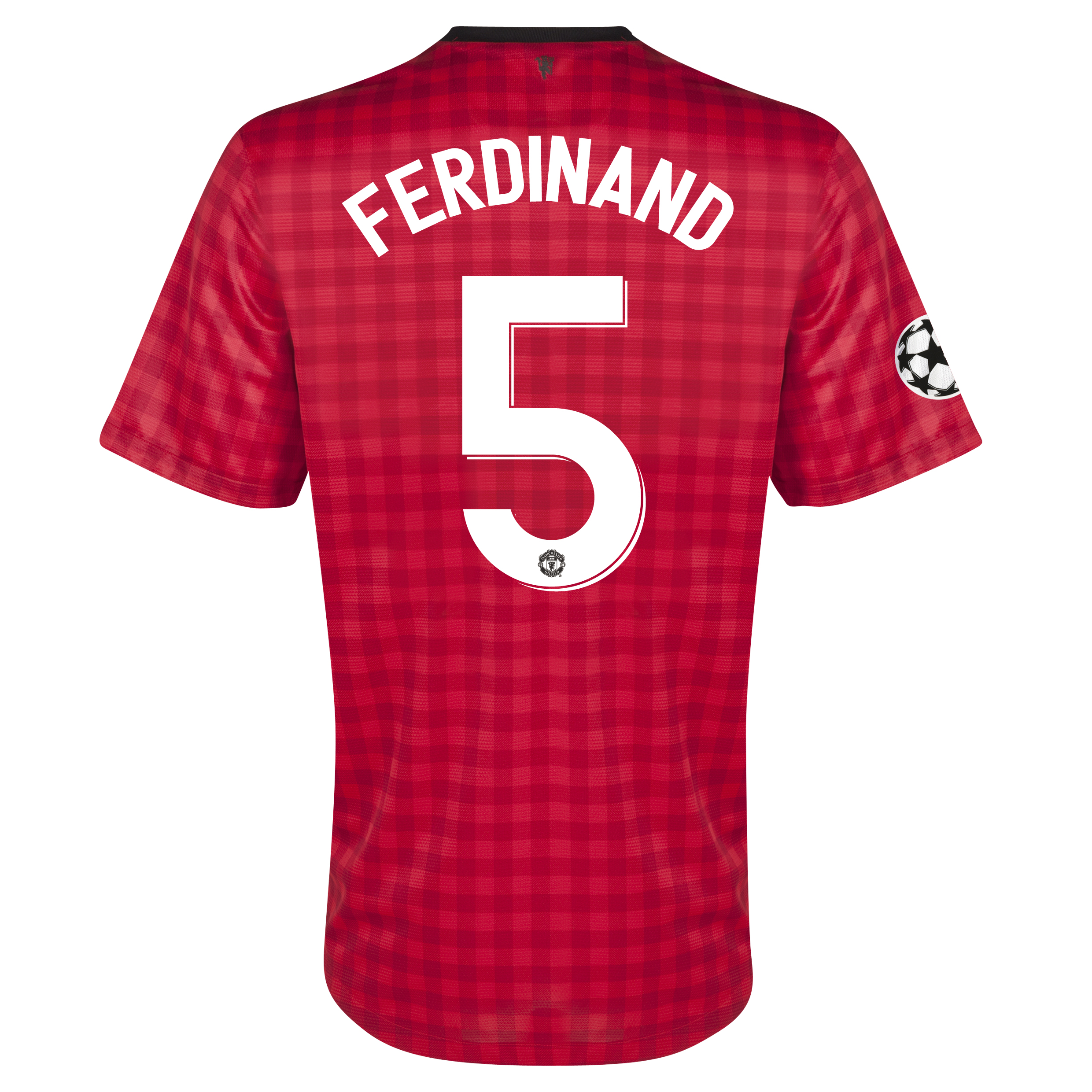 Manchester United UEFA Champions League Home Shirt 2012/13 with Ferdinand 5 printing