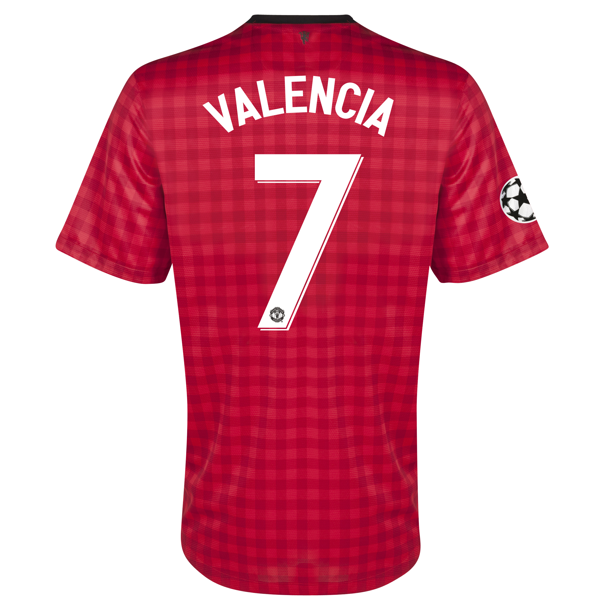 Manchester United UEFA Champions League Home Shirt 2012/13 with Valencia 7 printing