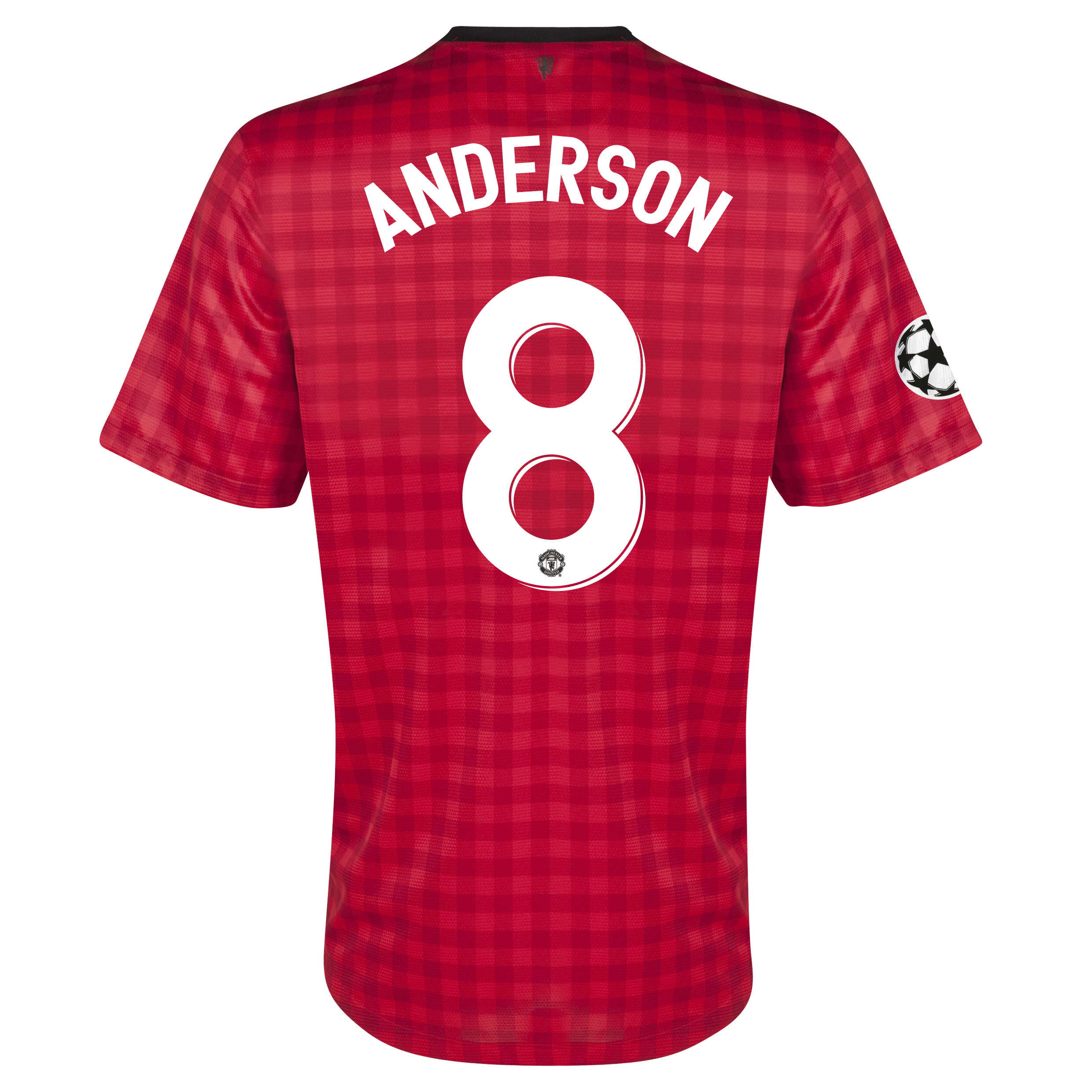 Manchester United UEFA Champions League Home Shirt 2012/13 with Anderson 8 printing