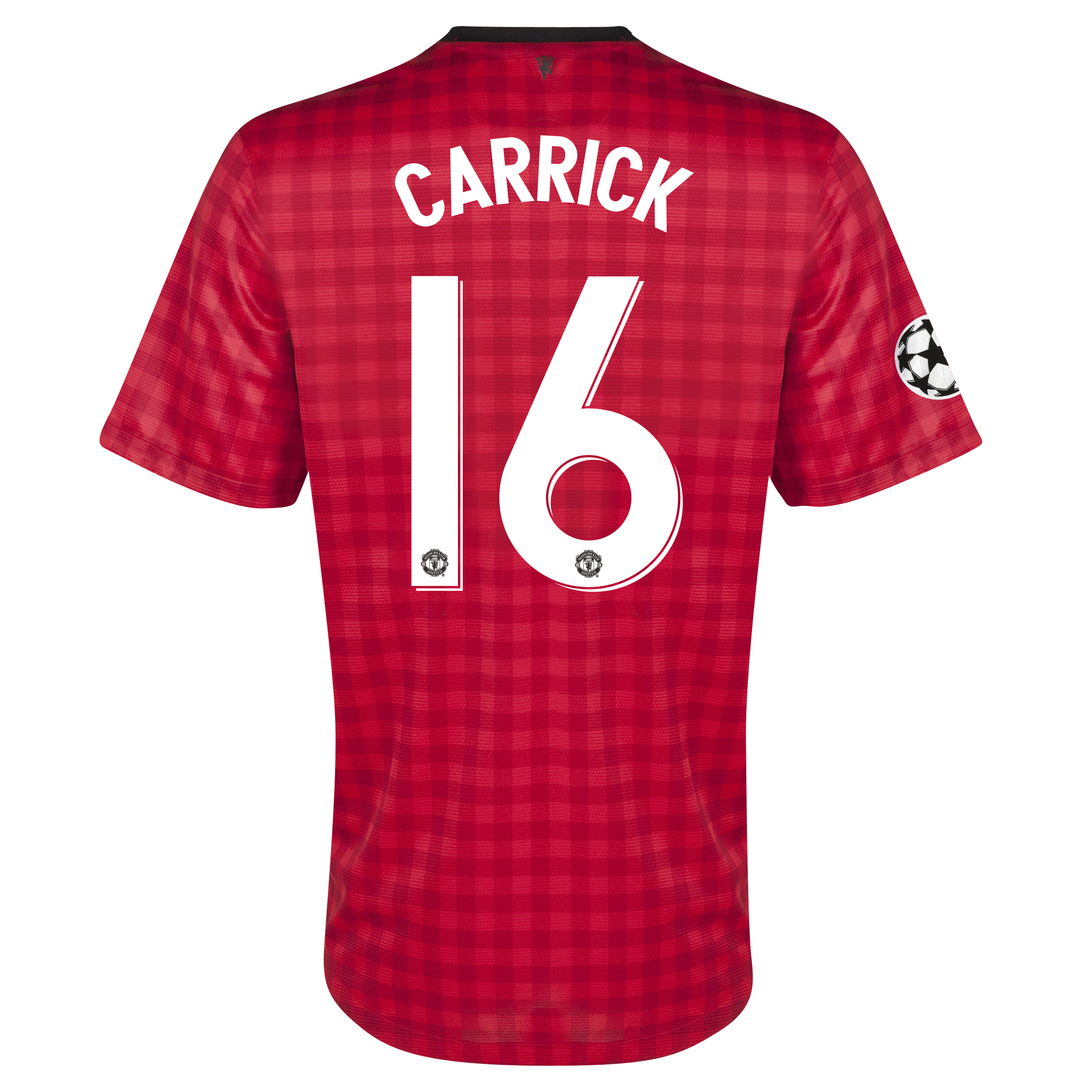 Manchester United UEFA Champions League Home Shirt 2012/13 with Carrick 16 printing
