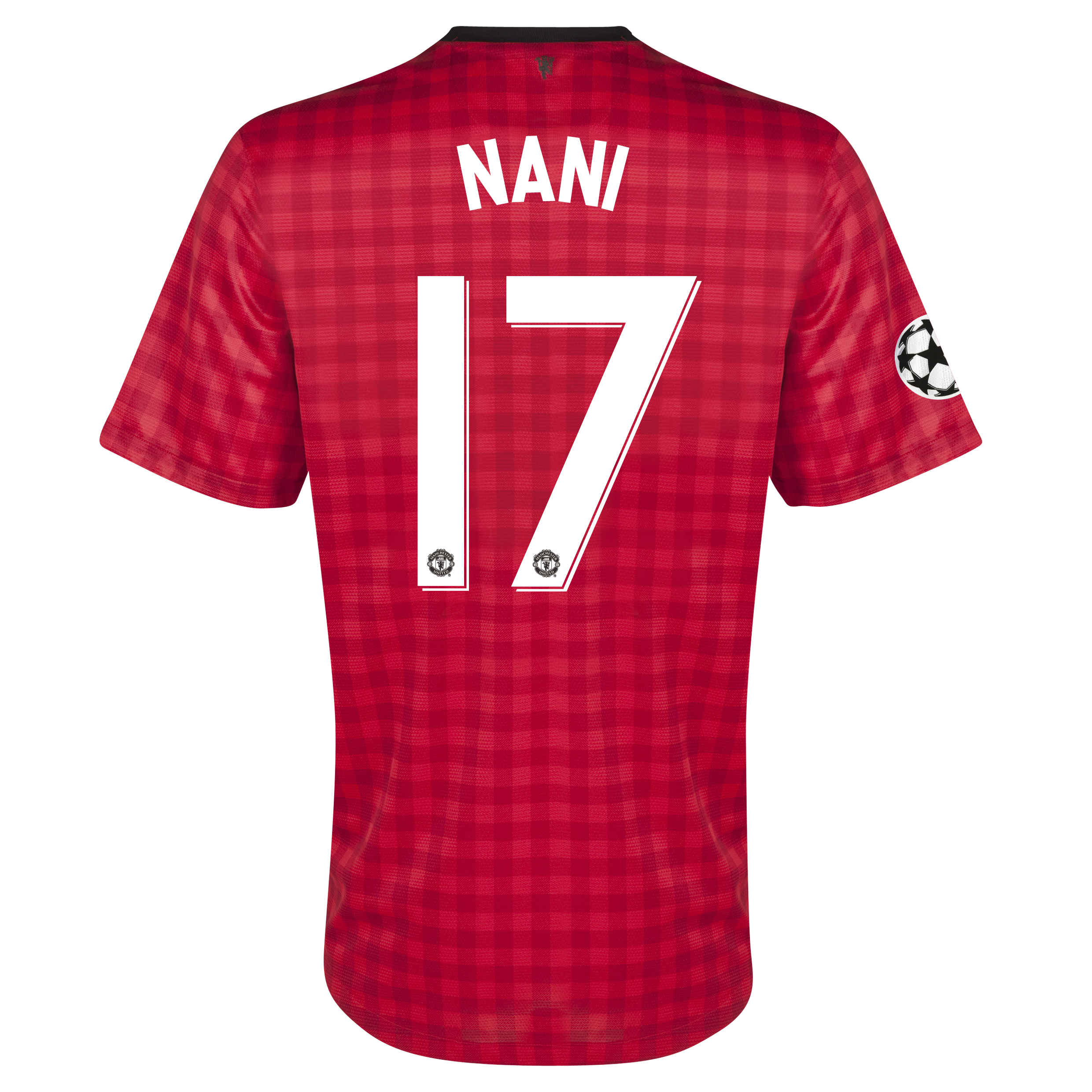 Manchester United UEFA Champions League Home Shirt 2012/13 with Nani 17 printing