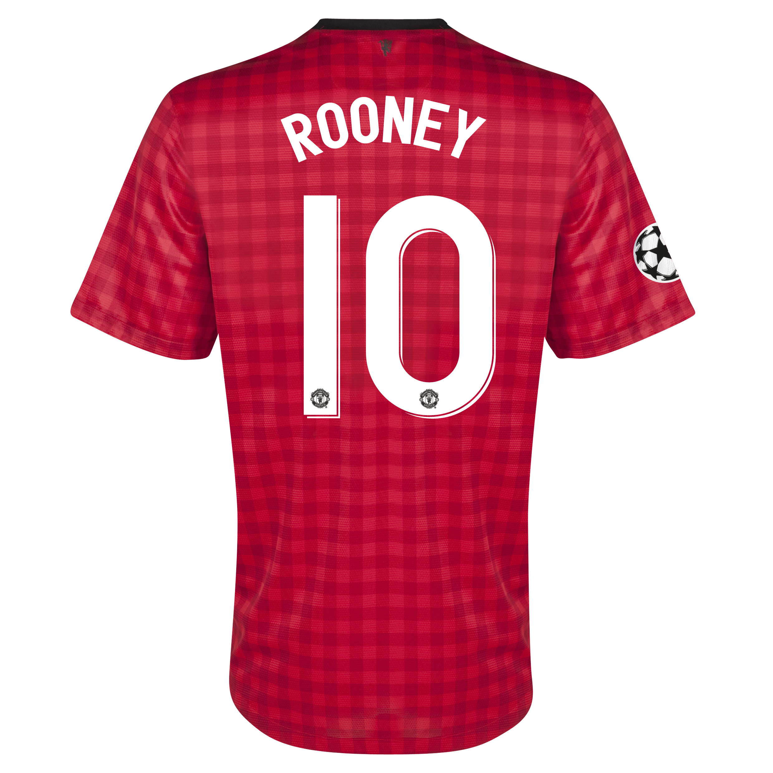 Manchester United UEFA Champions League Home Shirt 2012/13 - Kids with Rooney 10 printing