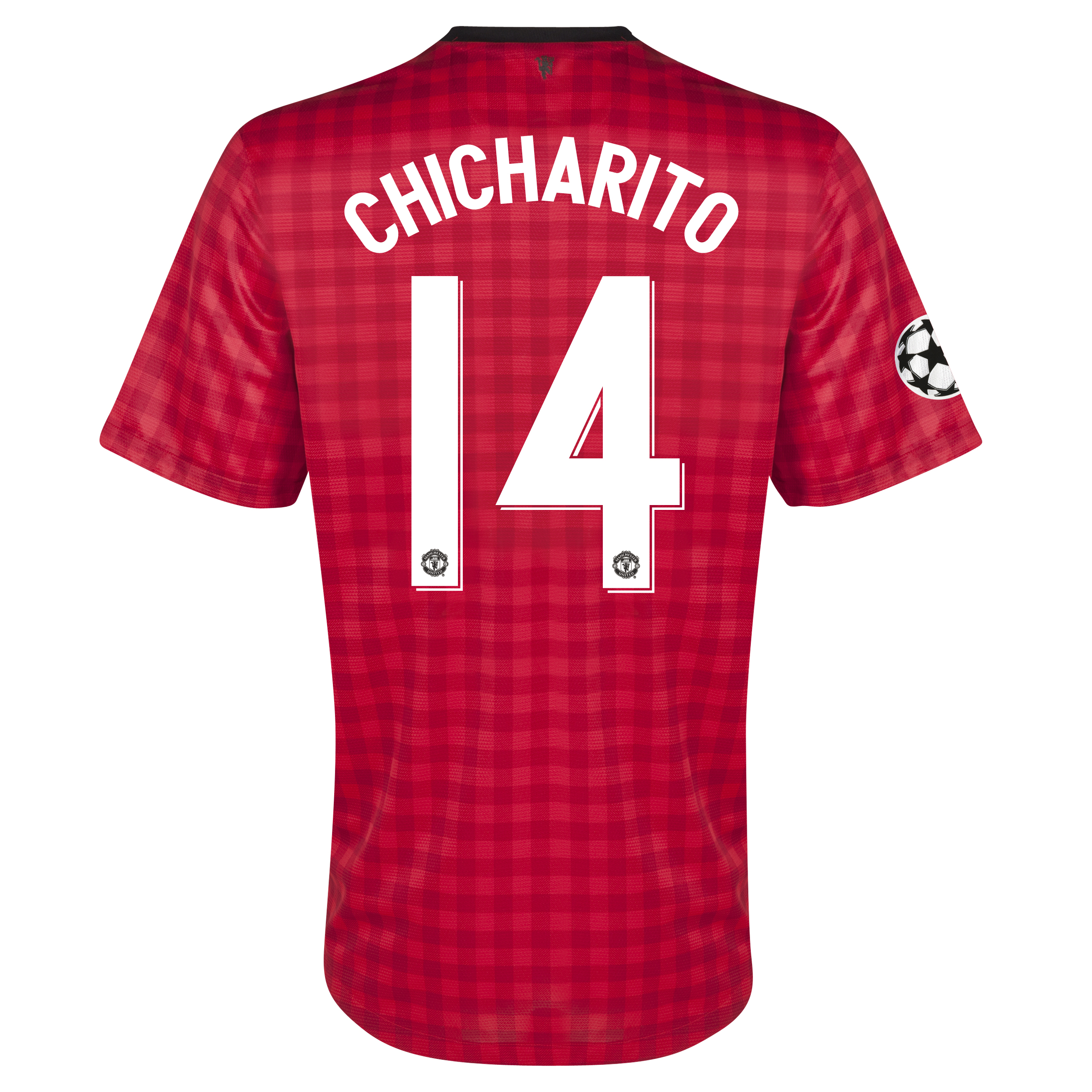 Manchester United UEFA Champions League Home Shirt 2012/13 - Kids with Chicharito 14 printing