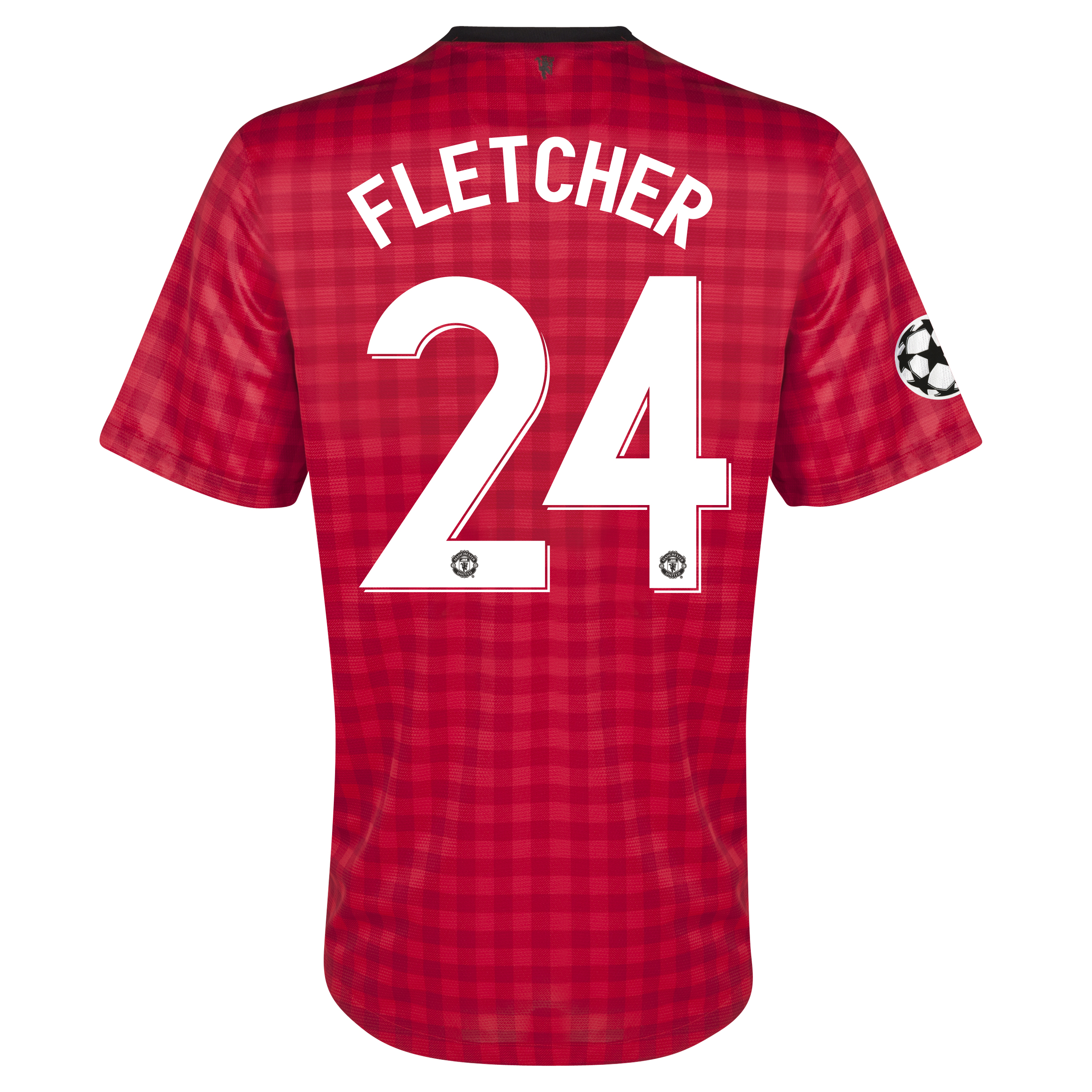Manchester United UEFA Champions League Home Shirt 2012/13 - Kids with Fletcher 24 printing
