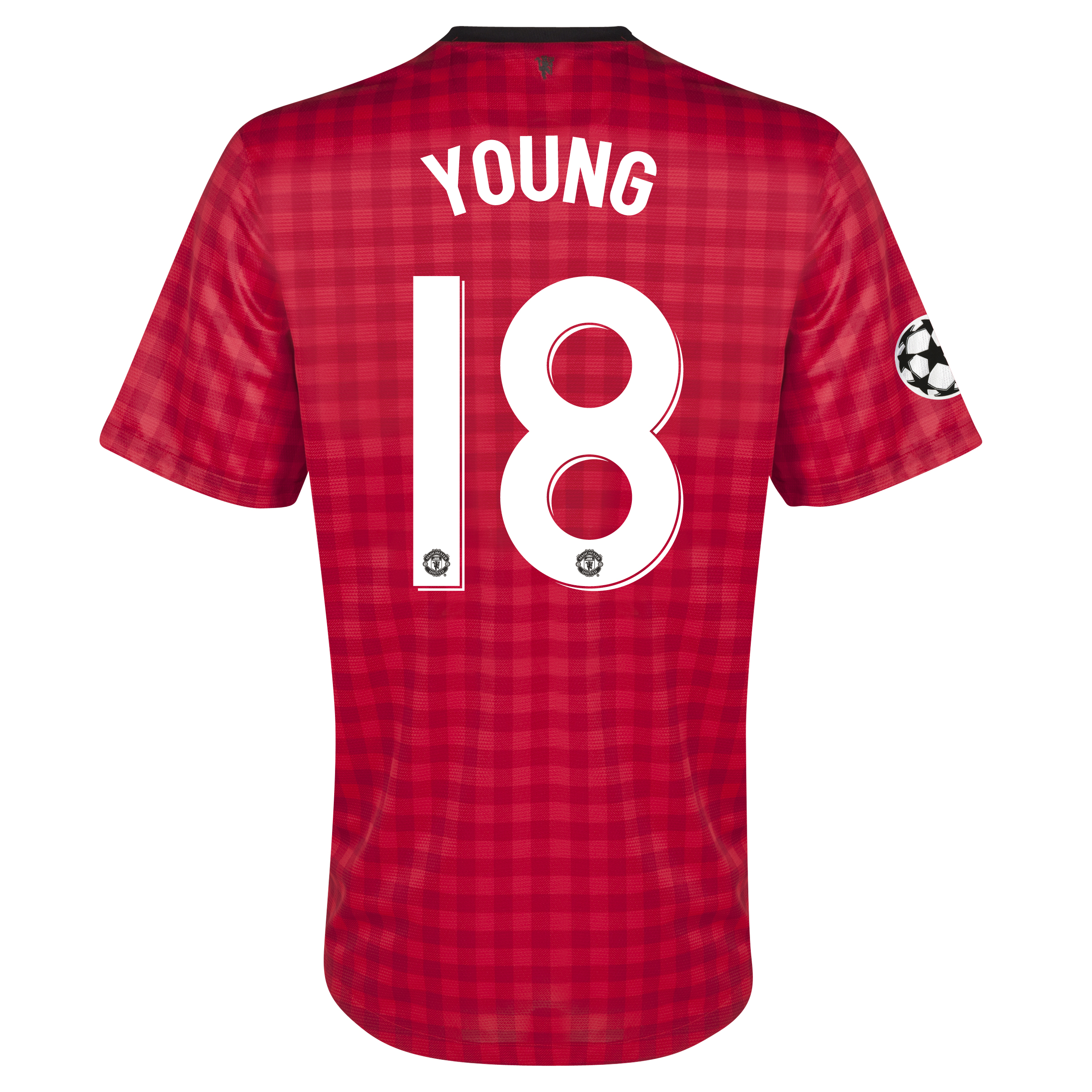Man United UEFA Champions League Home Shirt 2012/13  - Youths with Young 18 printing