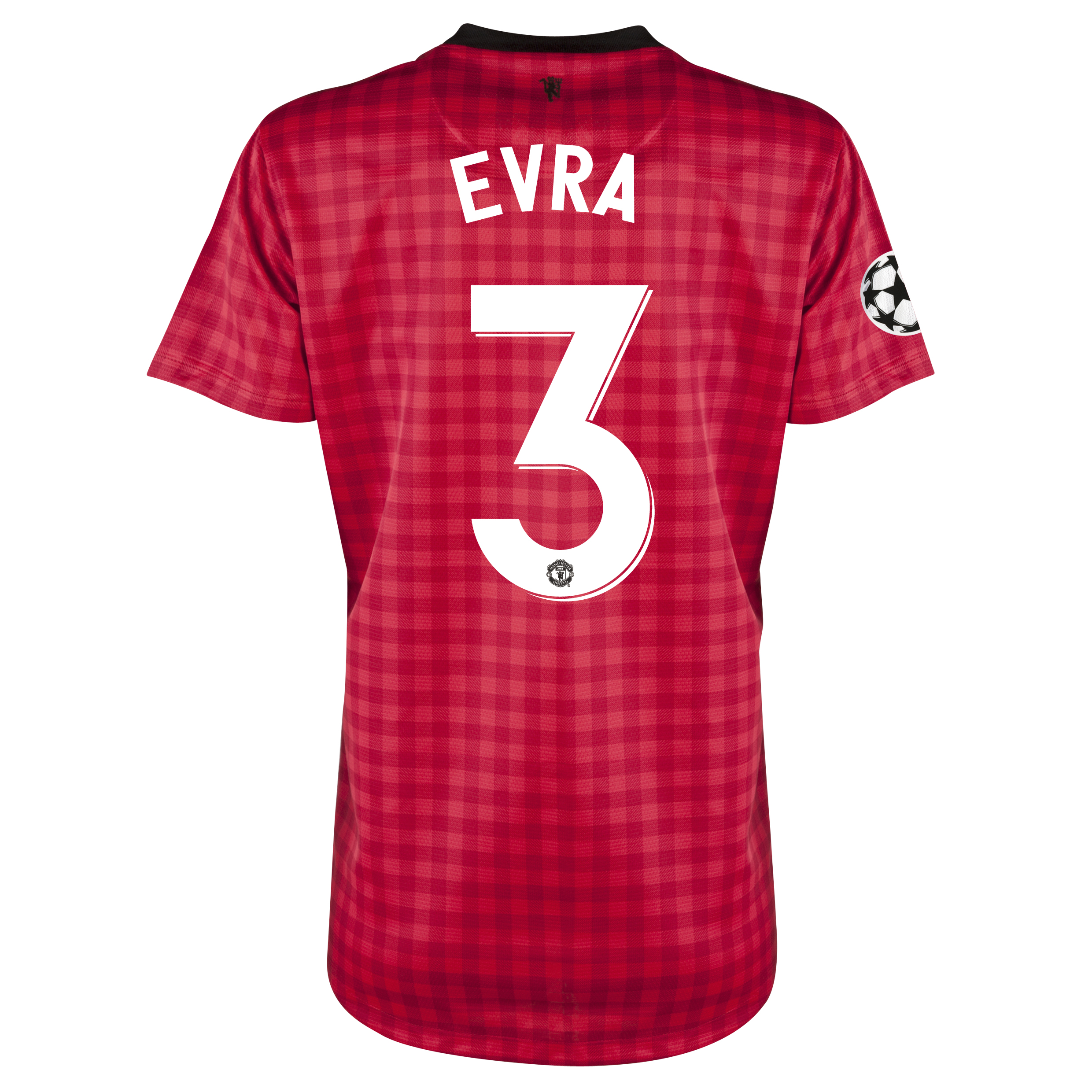 Man United UEFA Champions League Home Shirt 2012/13 - Womens with Evra 3 printing