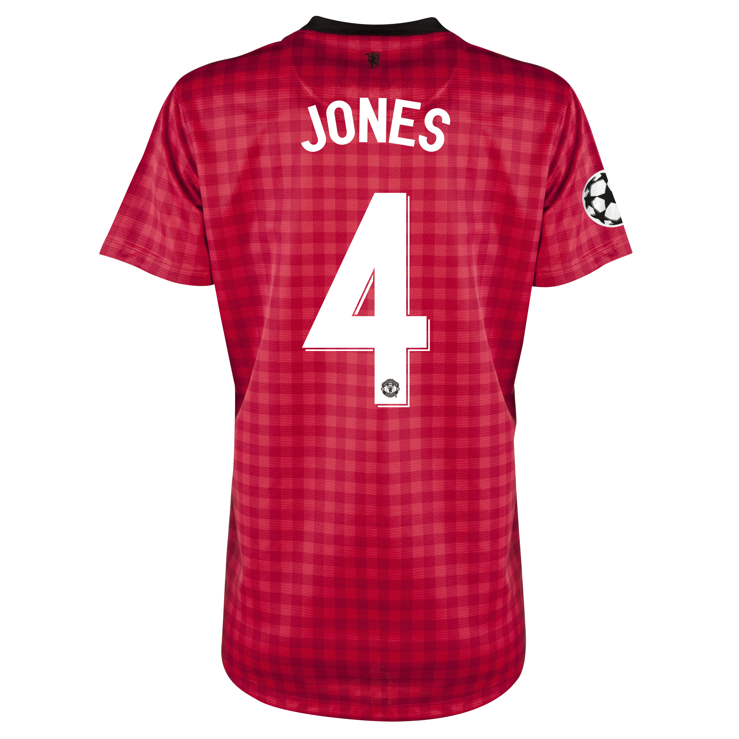 Man United UEFA Champions League Home Shirt 2012/13 - Womens with Jones 4 printing