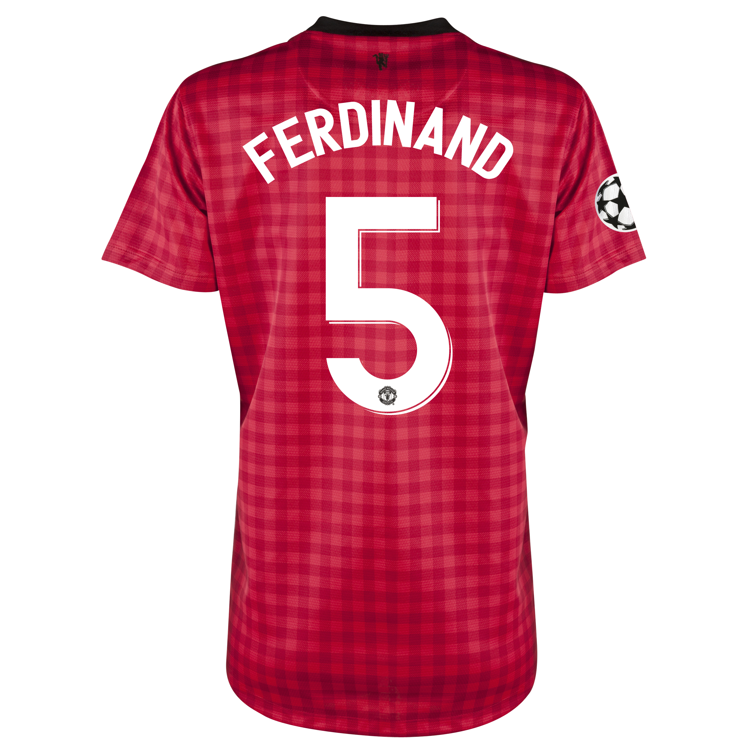 Man United UEFA Champions League Home Shirt 2012/13 - Womens with Ferdinand 5 printing