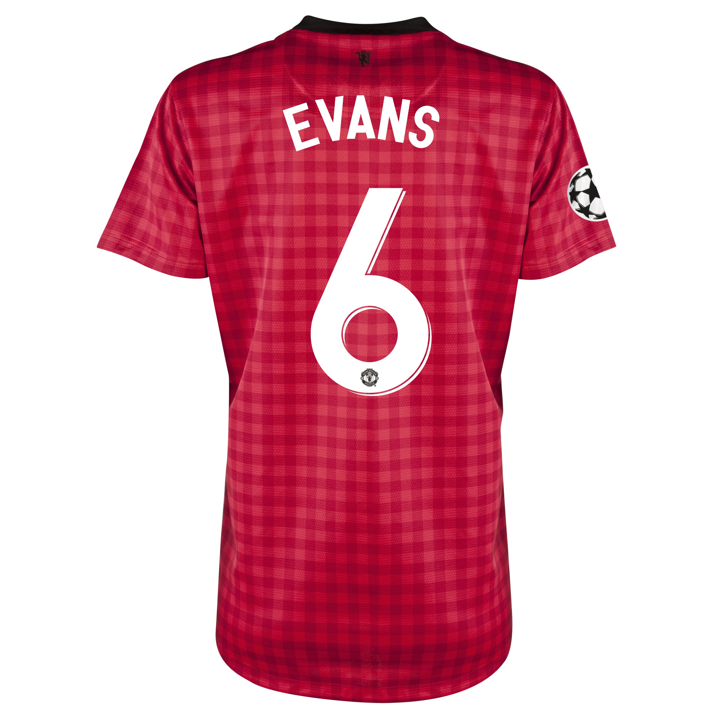 Man United UEFA Champions League Home Shirt 2012/13 - Womens with Evans 6 printing