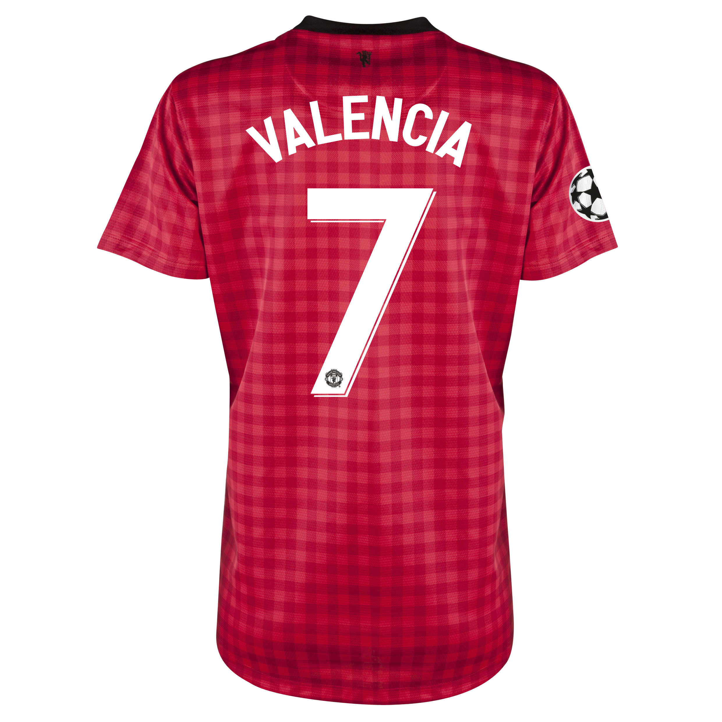 Man United UEFA Champions League Home Shirt 2012/13 - Womens with Valencia 7 printing