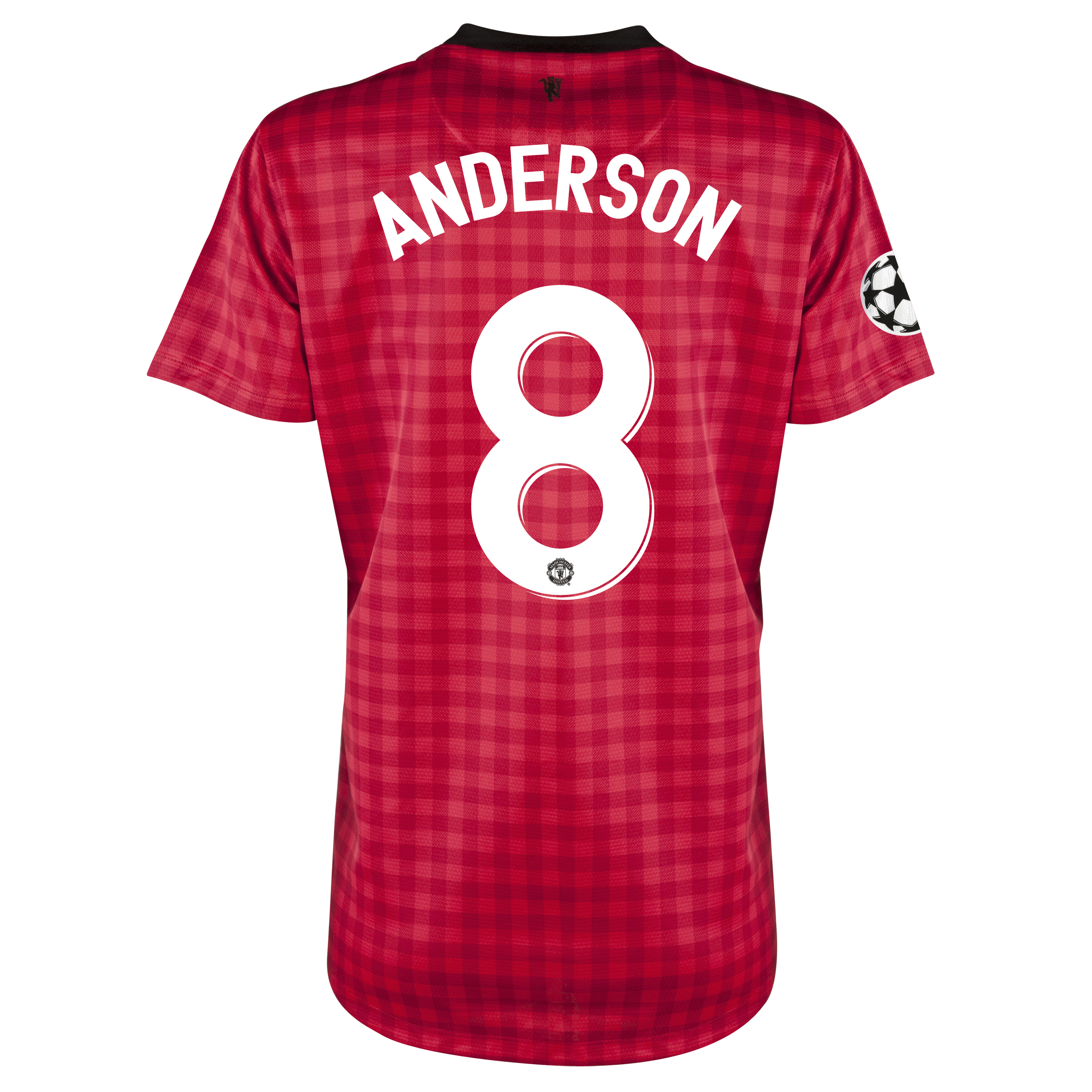 Man United UEFA Champions League Home Shirt 2012/13 - Womens with Anderson 8 printing