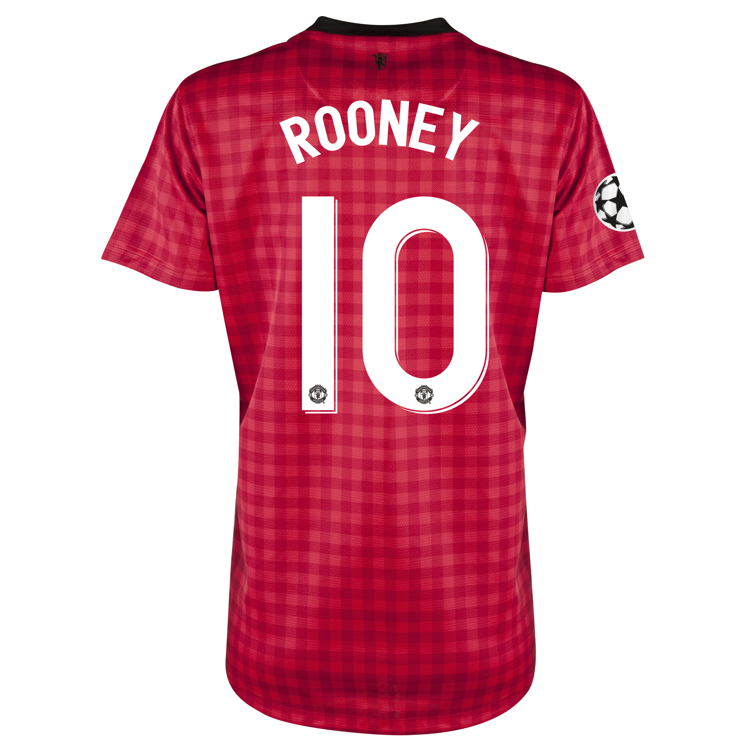 Man United UEFA Champions League Home Shirt 2012/13 - Womens with Rooney 10 printing